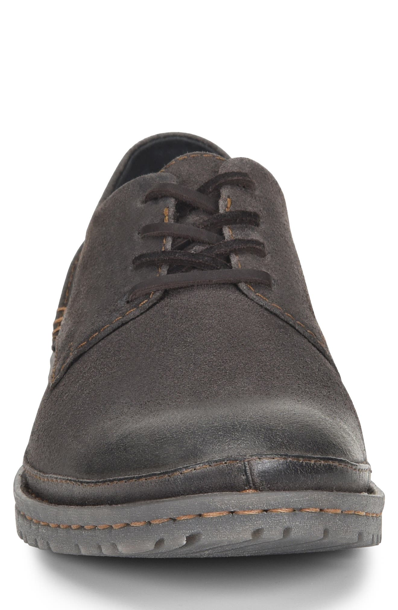 Gilles Plain Toe Derby,                             Alternate thumbnail 4, color,                             DARK GREY LEATHER
