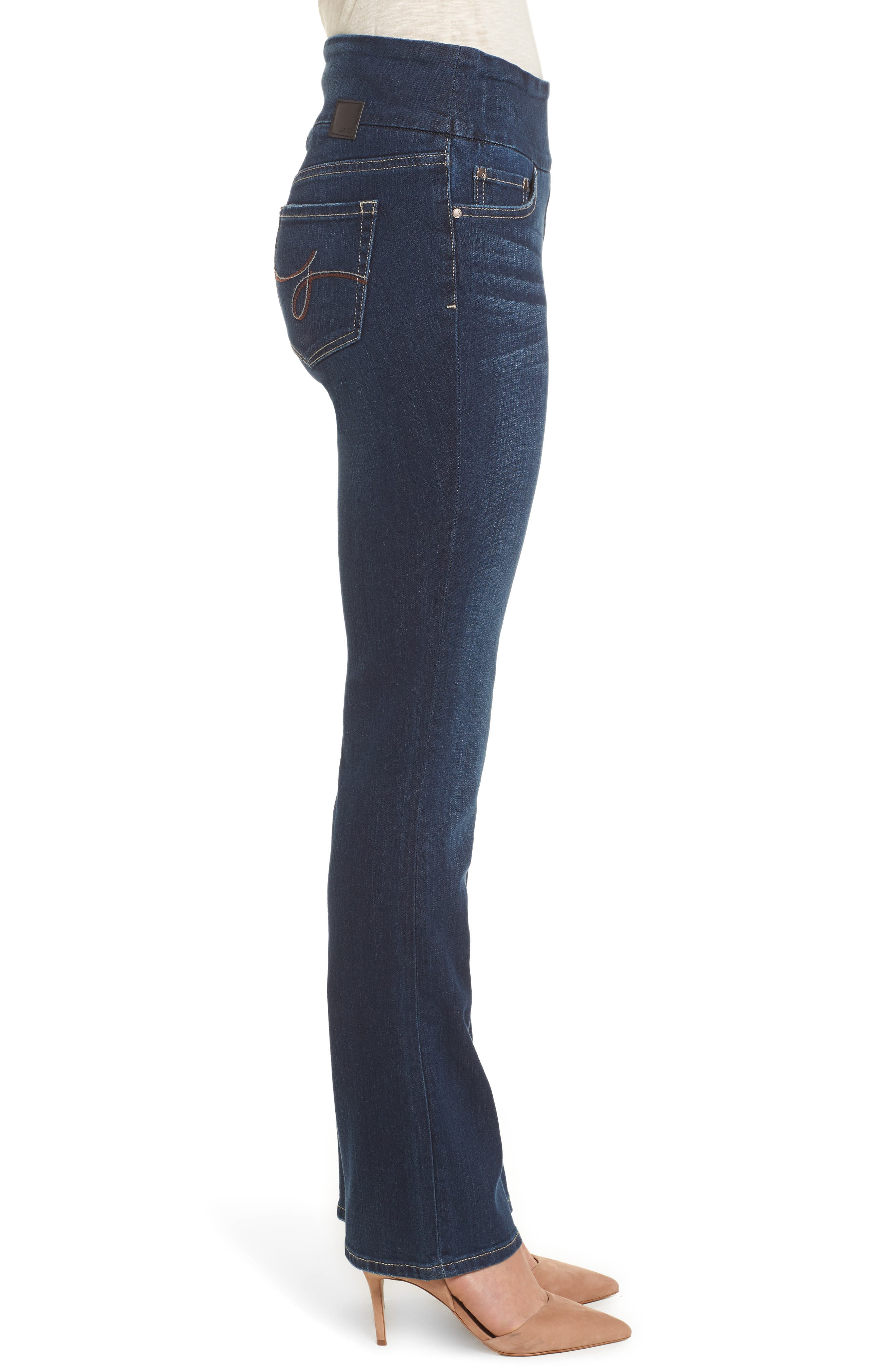 Paley Stretch Bootcut Jeans,                             Alternate thumbnail 3, color,                             DARK INDIGO