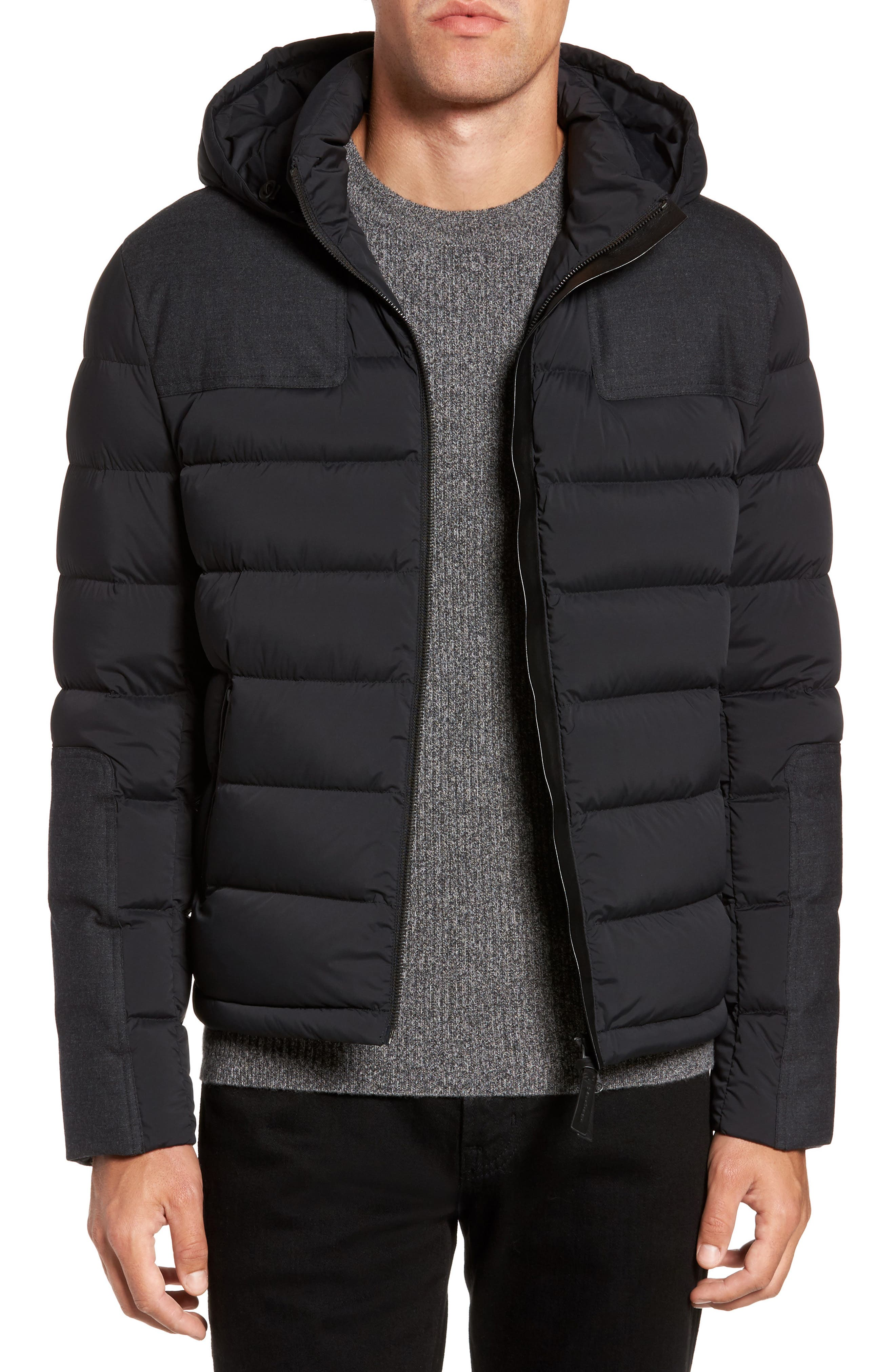 Quilted Down Jacket,                         Main,                         color, 001