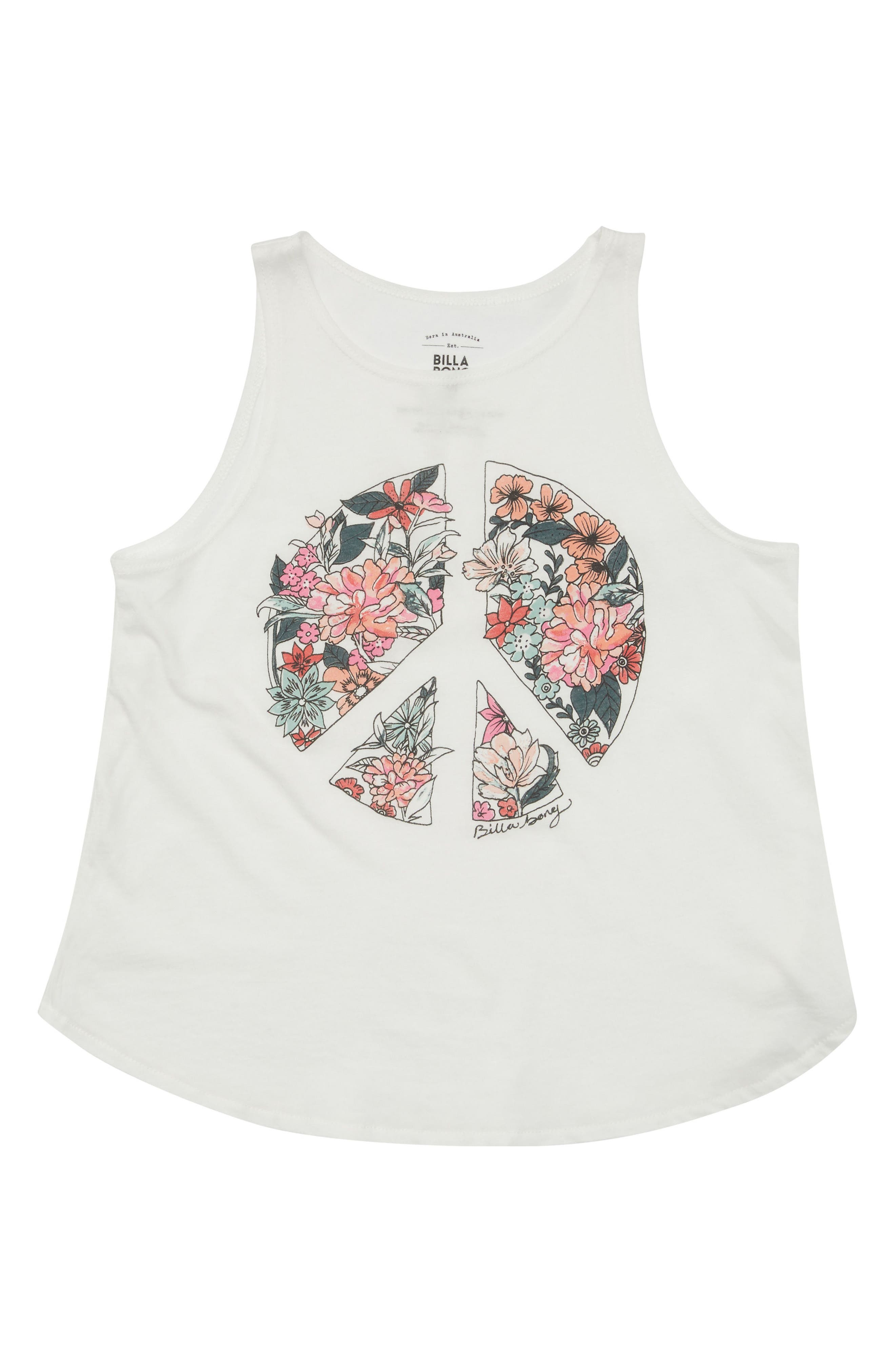 Flowers of Peace Graphic Print Tank,                             Main thumbnail 1, color,