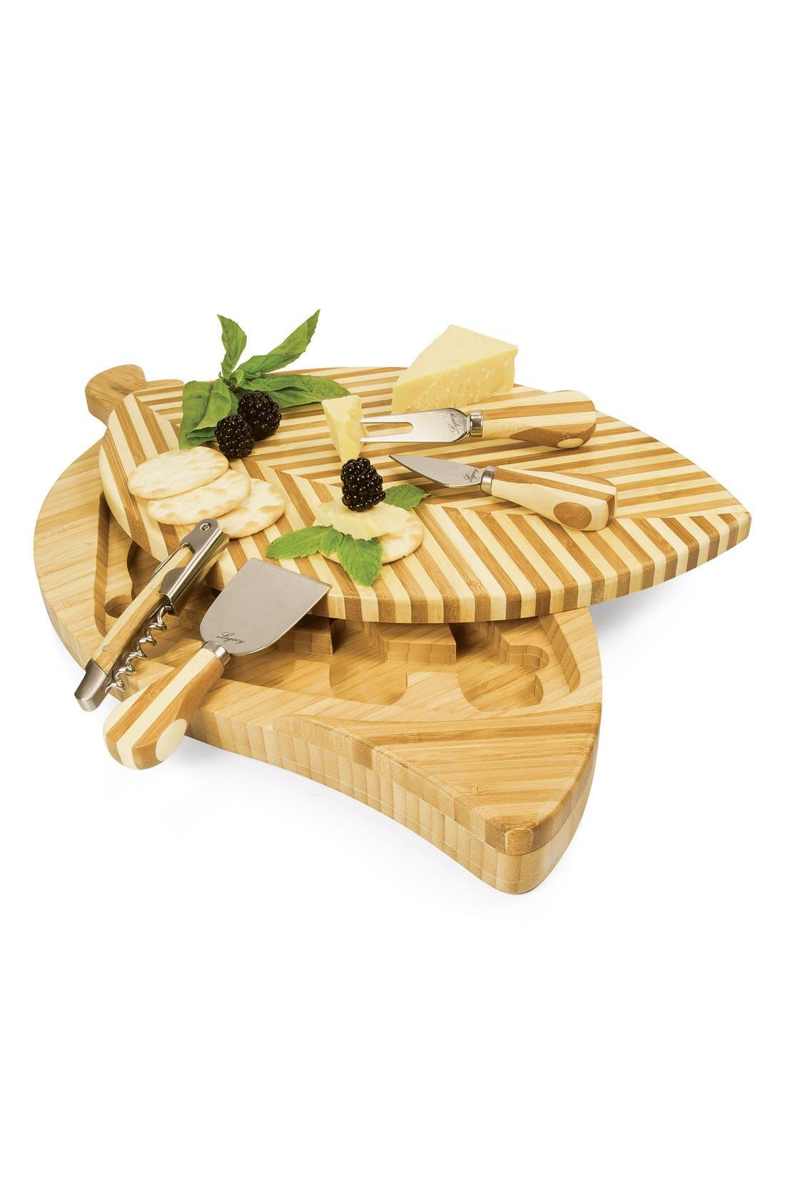 'Leaf' Cutting Board & Cheese Tools,                             Alternate thumbnail 4, color,                             200