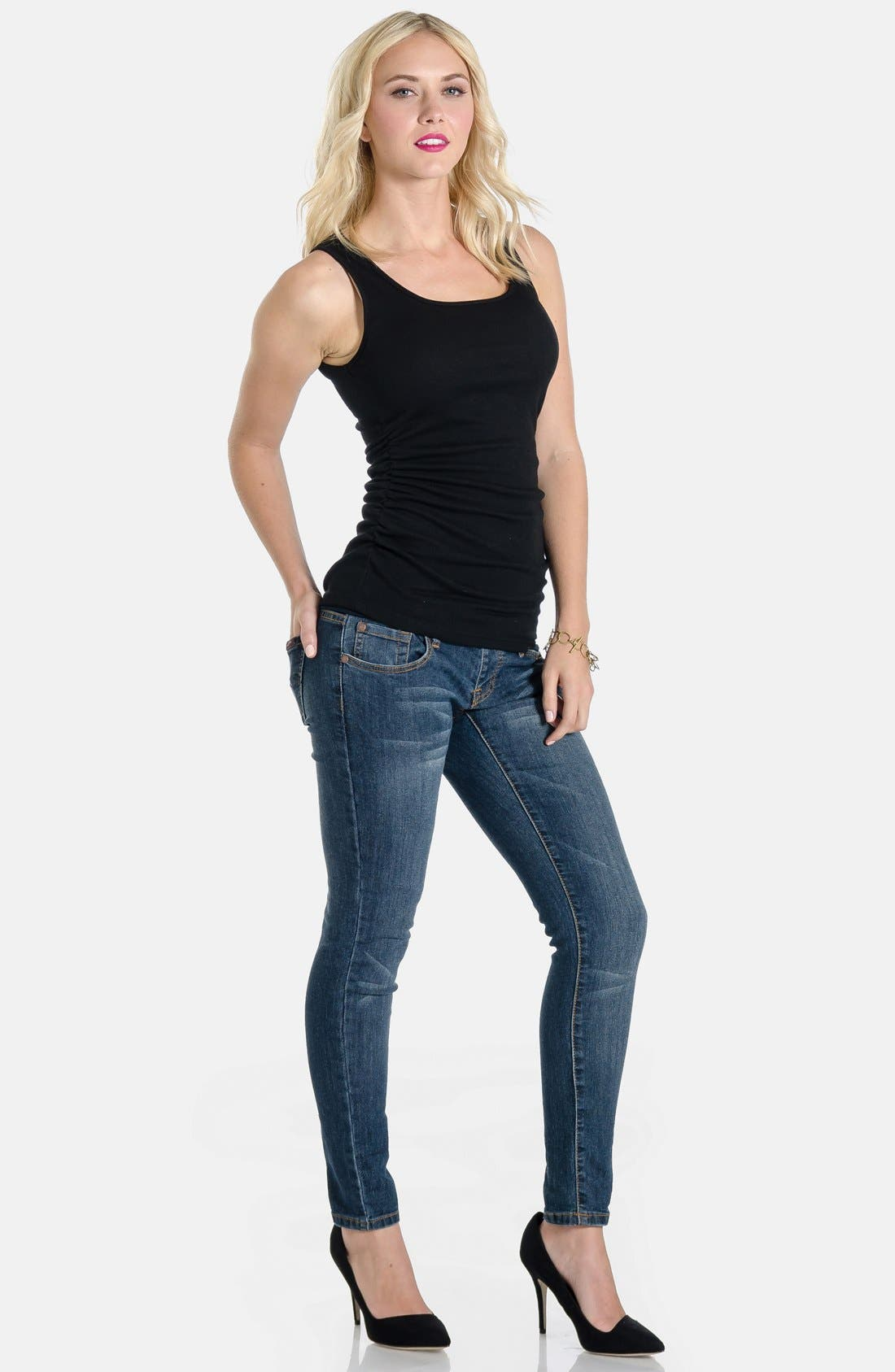 Skinny Maternity Jeans,                             Alternate thumbnail 22, color,