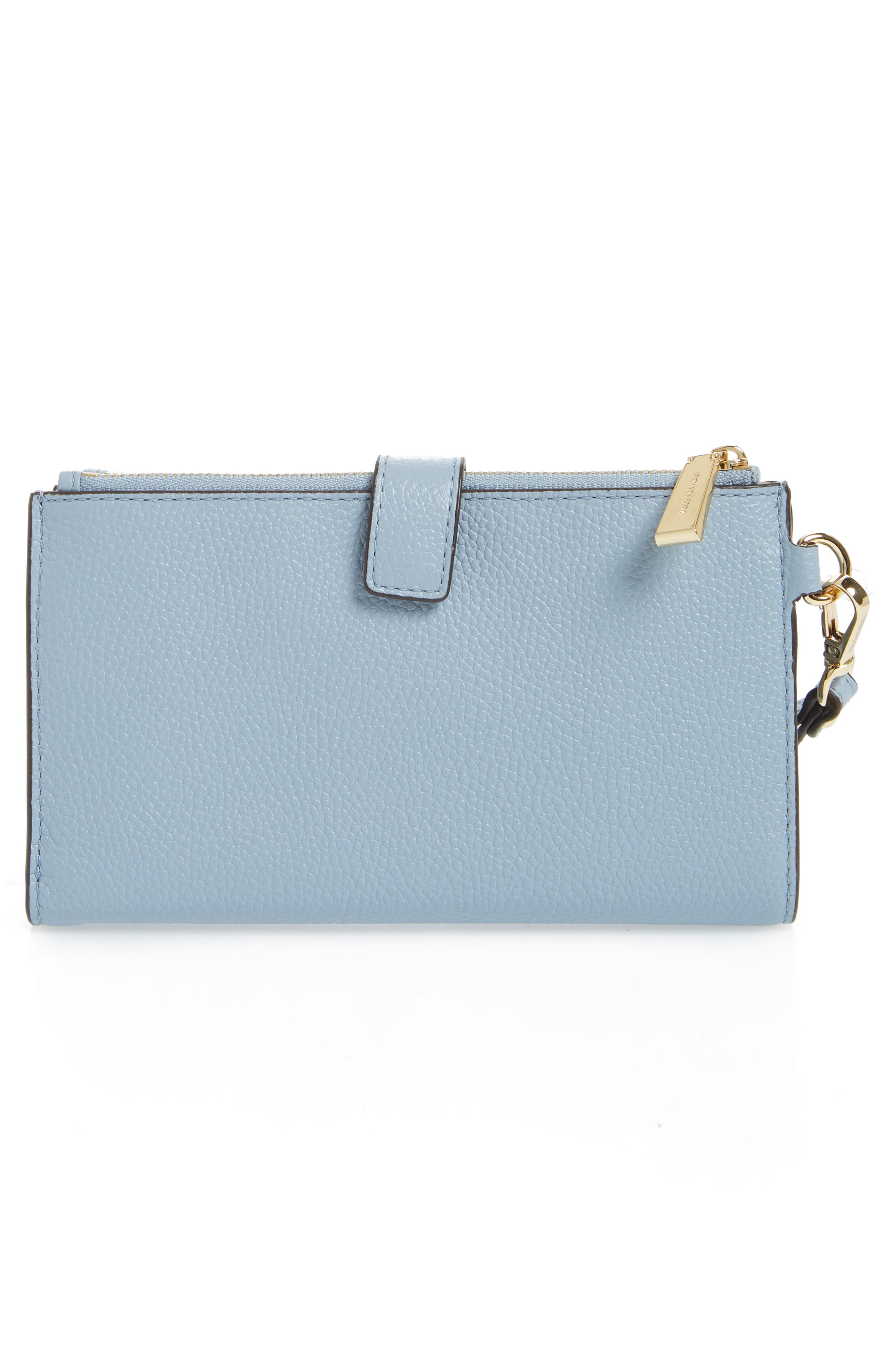 Adele Leather Wristlet,                             Alternate thumbnail 22, color,