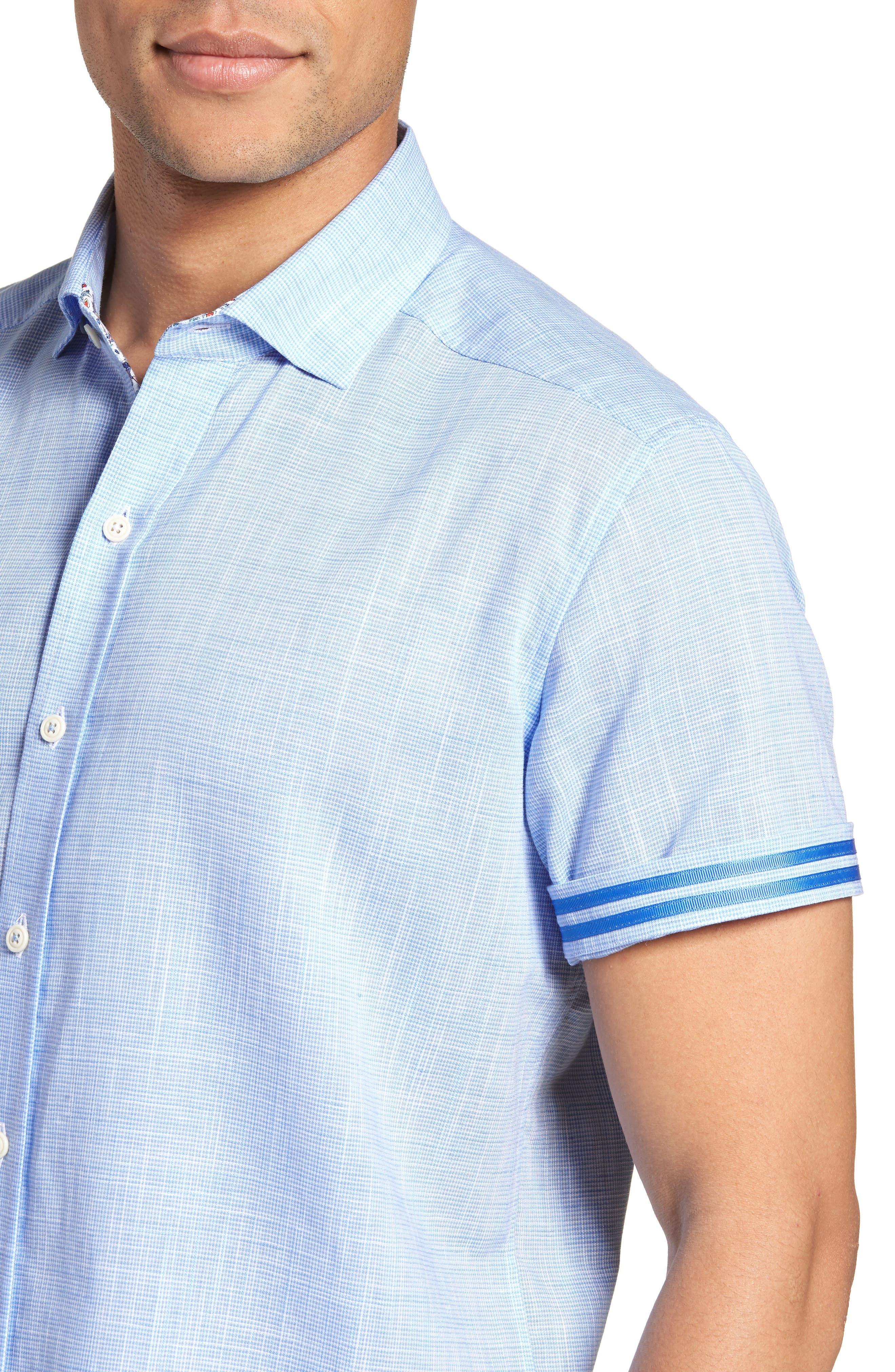 ROBERT GRAHAM,                             Isia Tailored Fit Sport Shirt,                             Alternate thumbnail 4, color,                             400