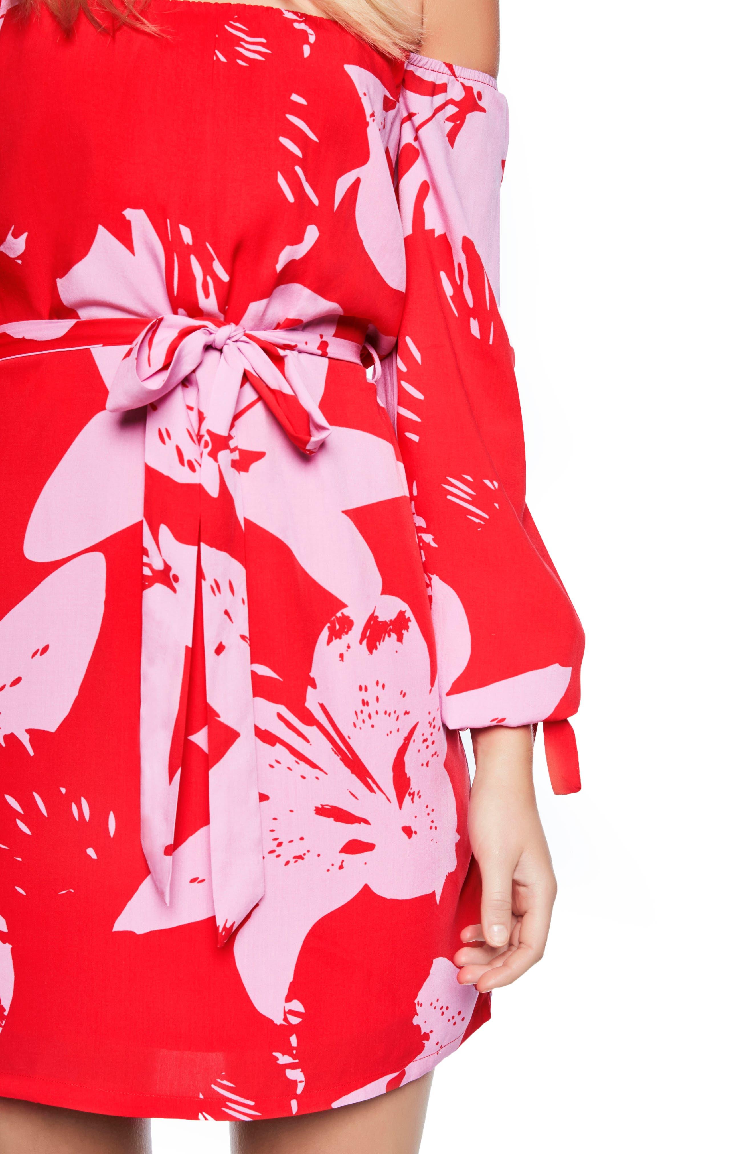 Dariela Off the Shoulder Minidress,                             Alternate thumbnail 4, color,                             642