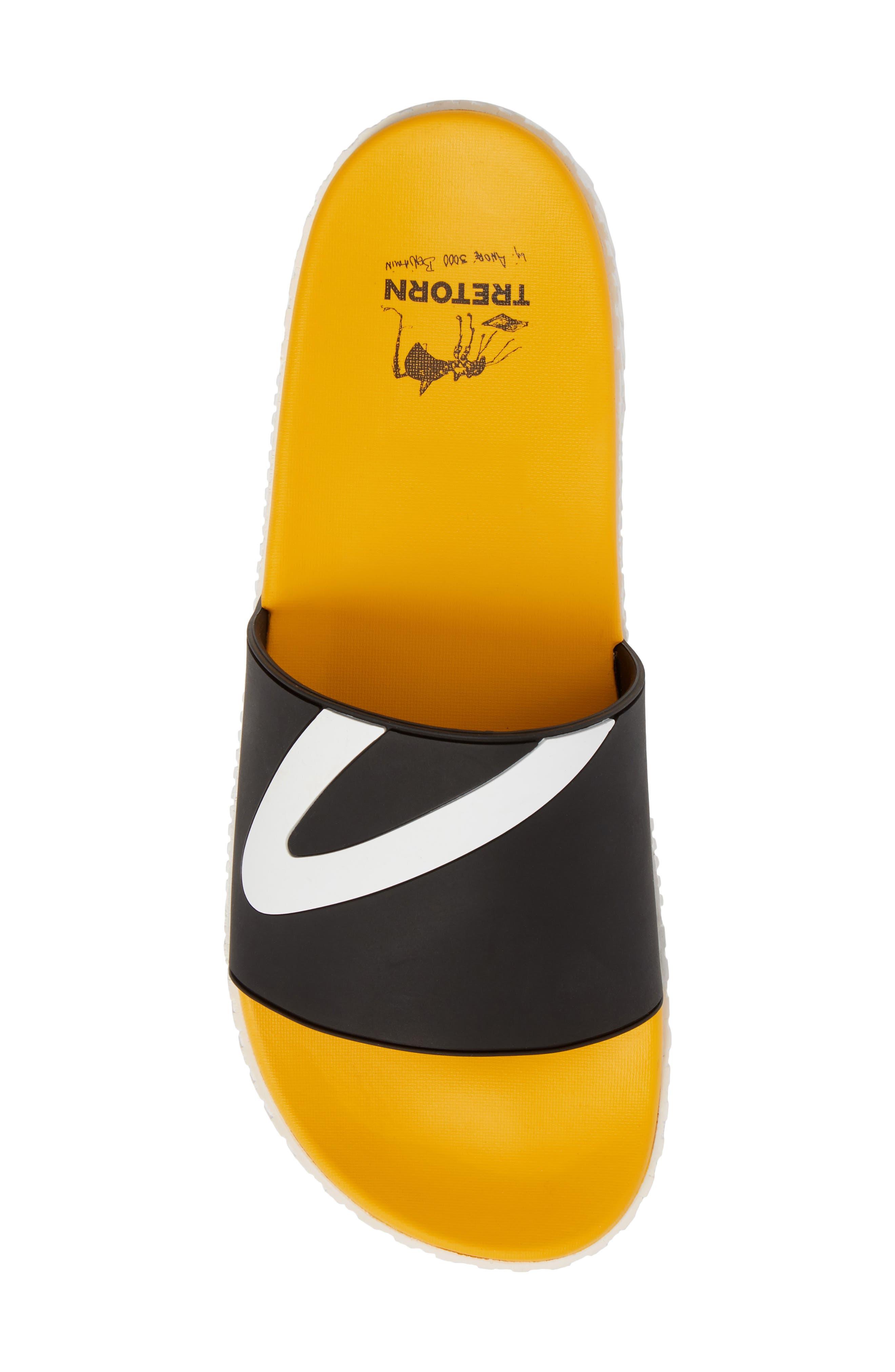 Andre 3000 Slide Sandal,                             Alternate thumbnail 5, color,                             BLACK