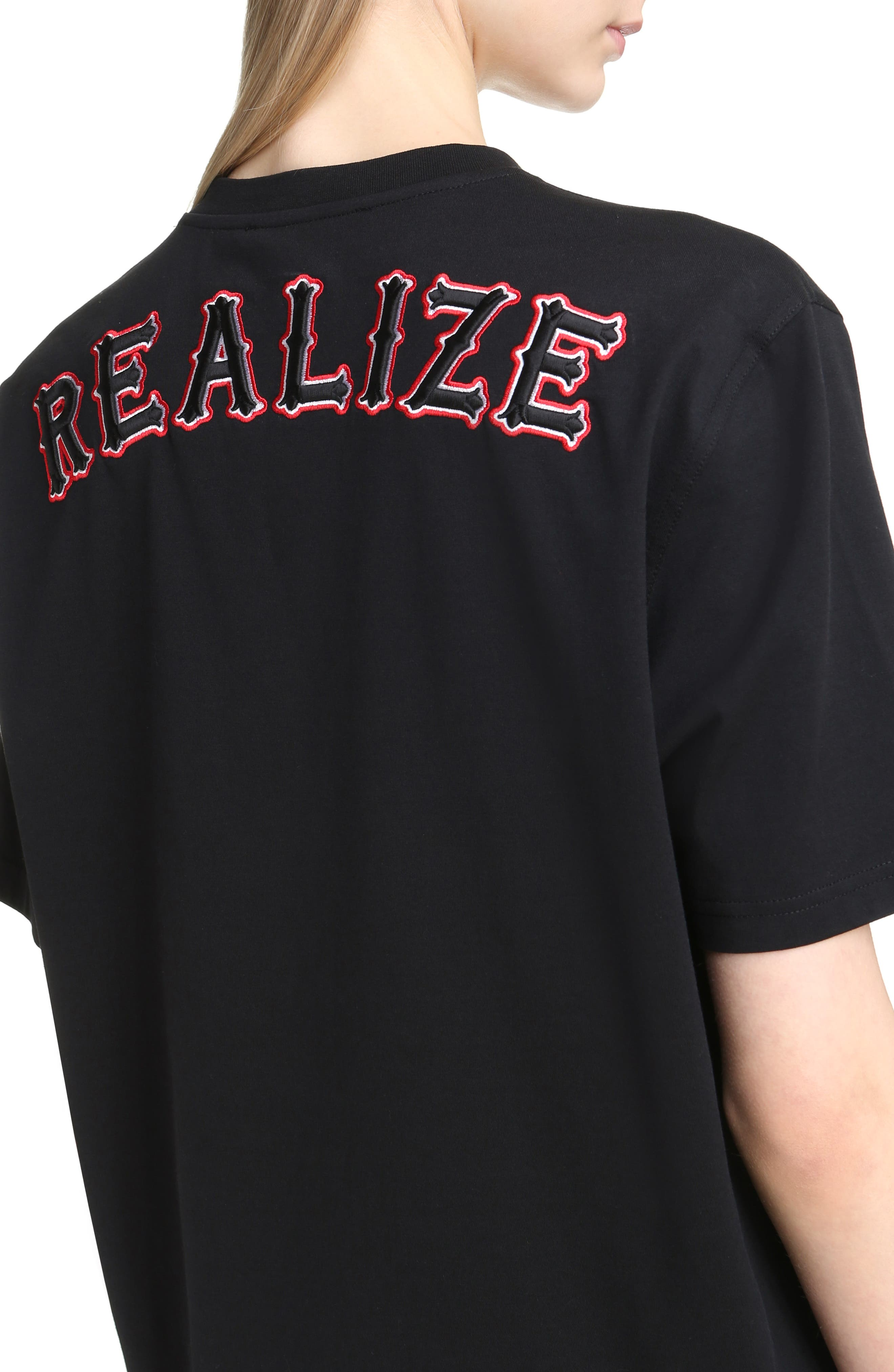 Realize Embroidered Tee,                             Alternate thumbnail 4, color,                             001