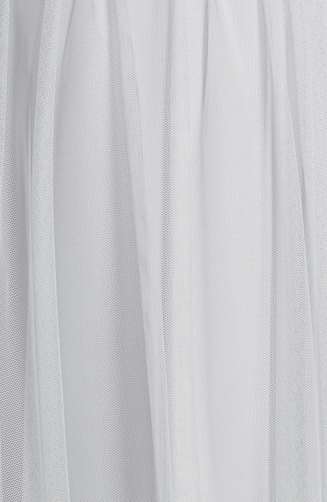 Lace & Tulle Spaghetti Strap Gown,                             Alternate thumbnail 3, color,                             020