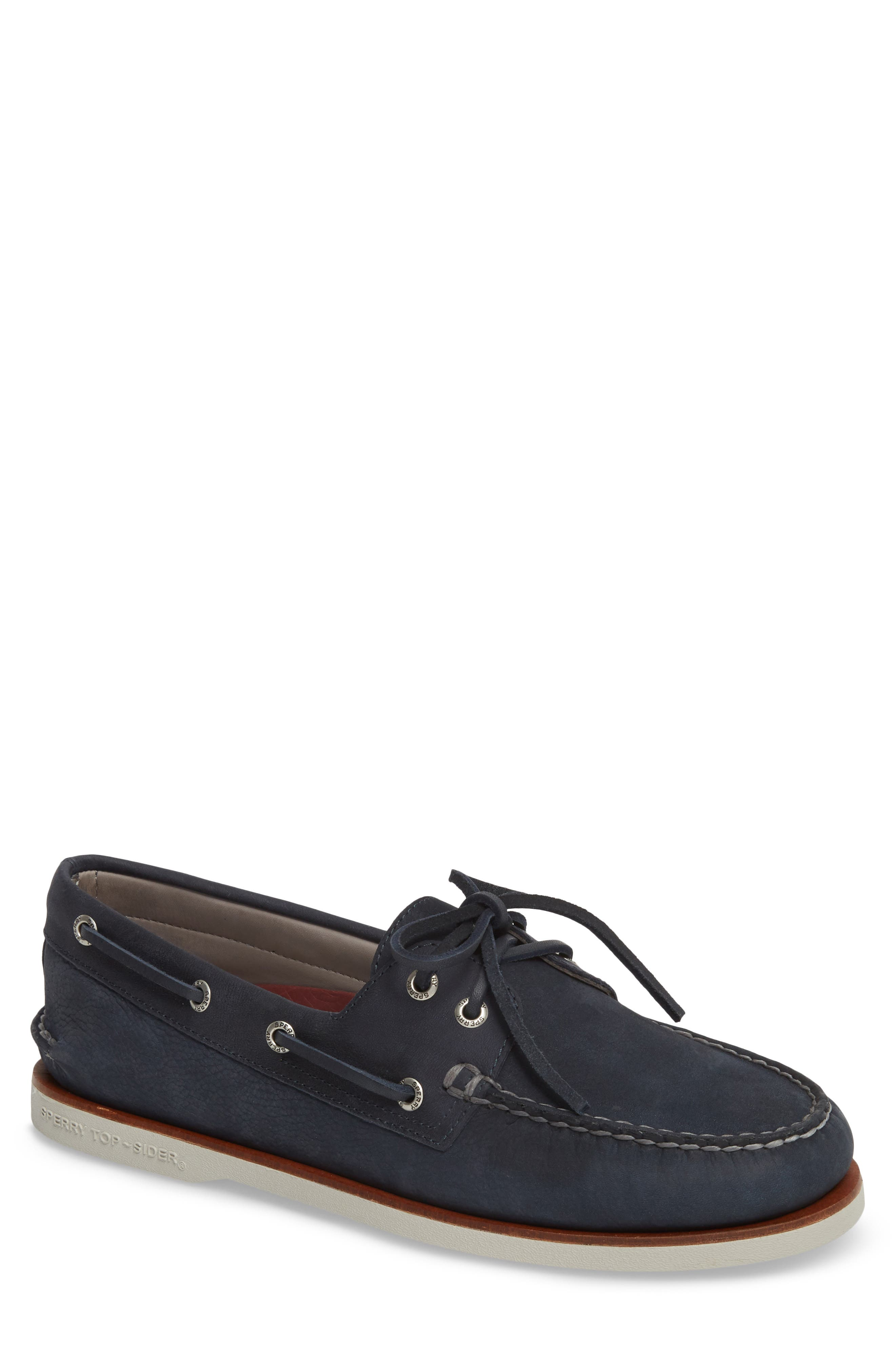 'Gold Cup - Authentic Original' Boat Shoe,                         Main,                         color, BLUE/ NAVY LEATHER