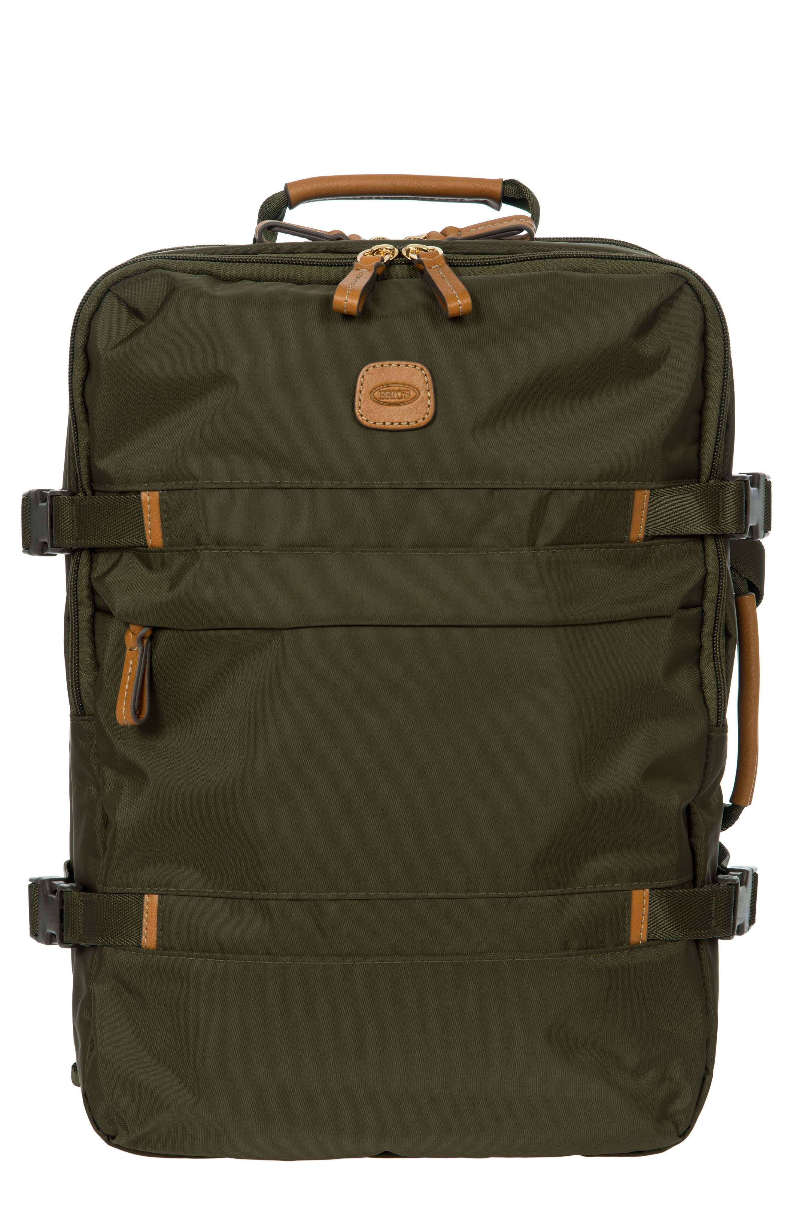 BRIC'S X-Travel Montagna Travel Backpack - Green in Olive