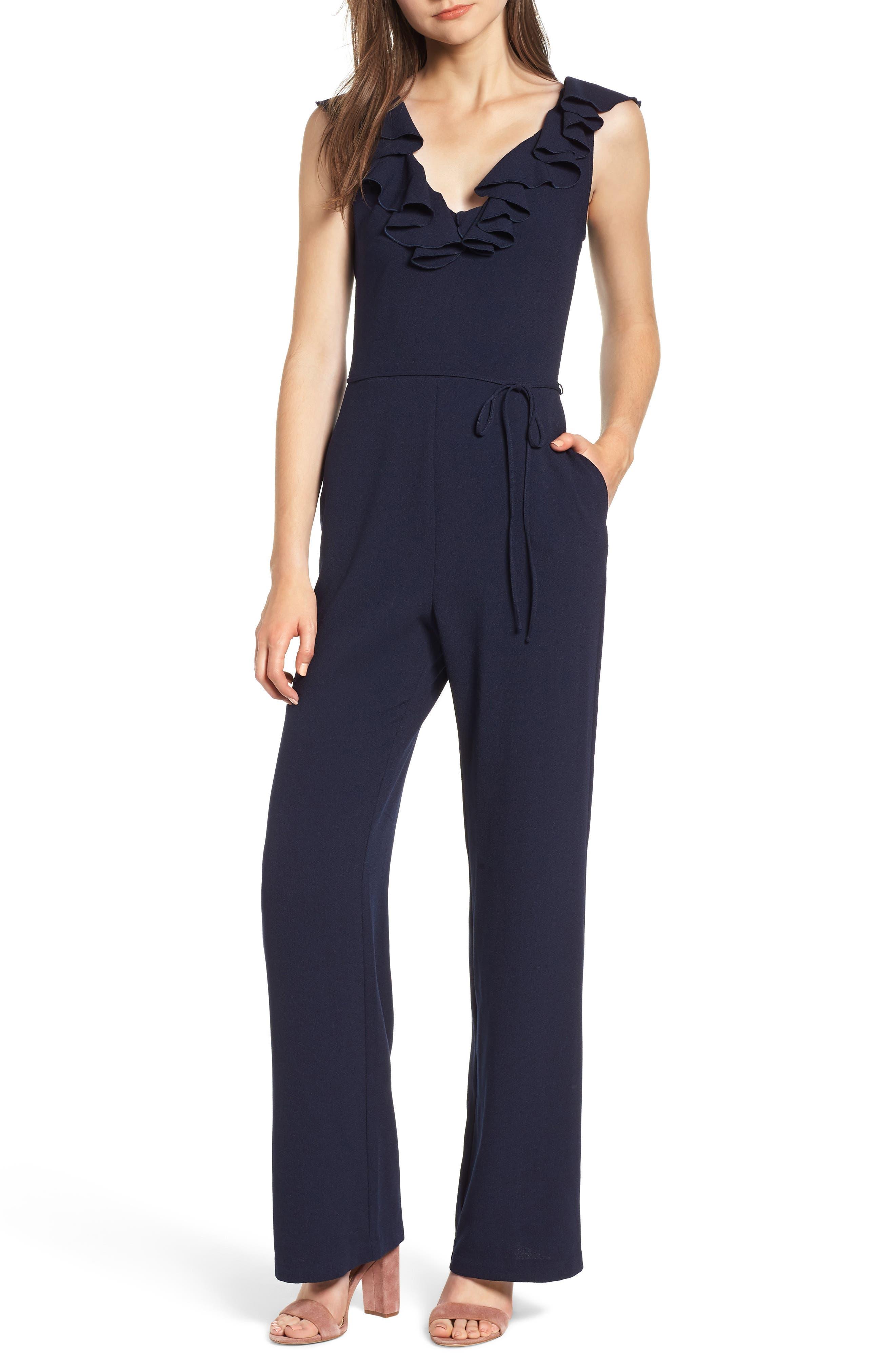 Ruffle Jumpsuit,                         Main,                         color, 400