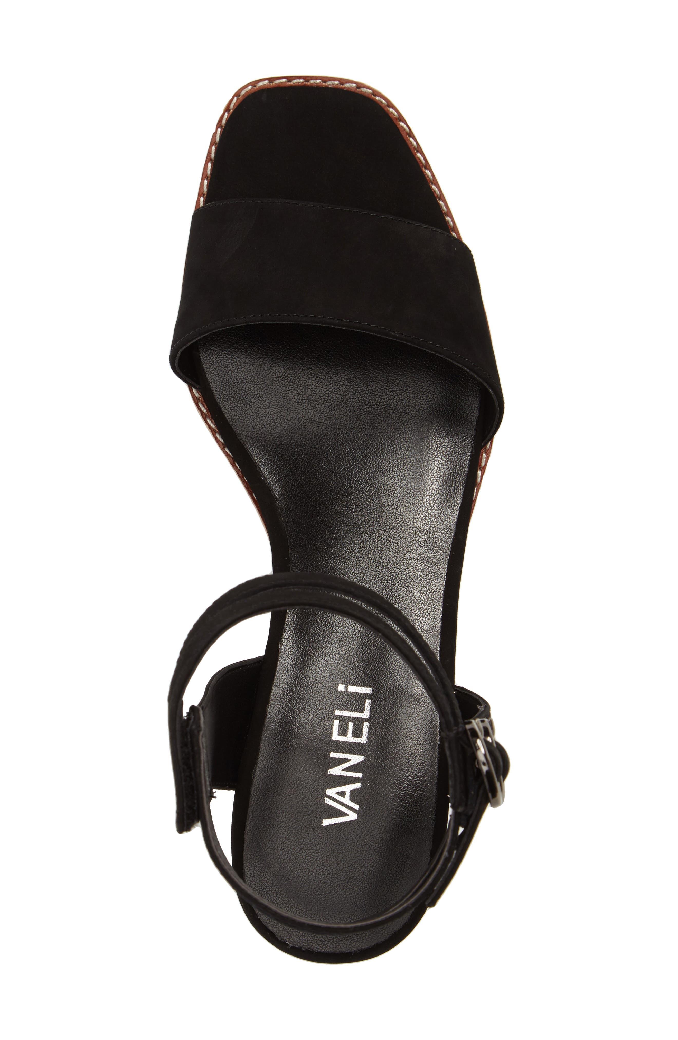 Jarita Ankle Strap Sandal,                             Alternate thumbnail 5, color,                             001