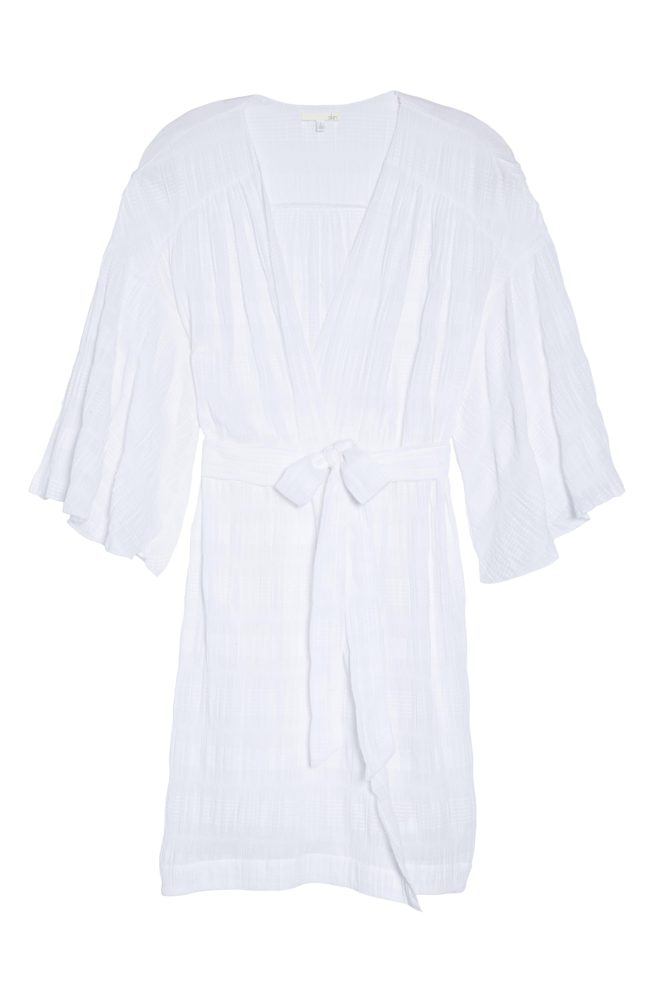 Nina Gauze Short Robe,                             Alternate thumbnail 6, color,