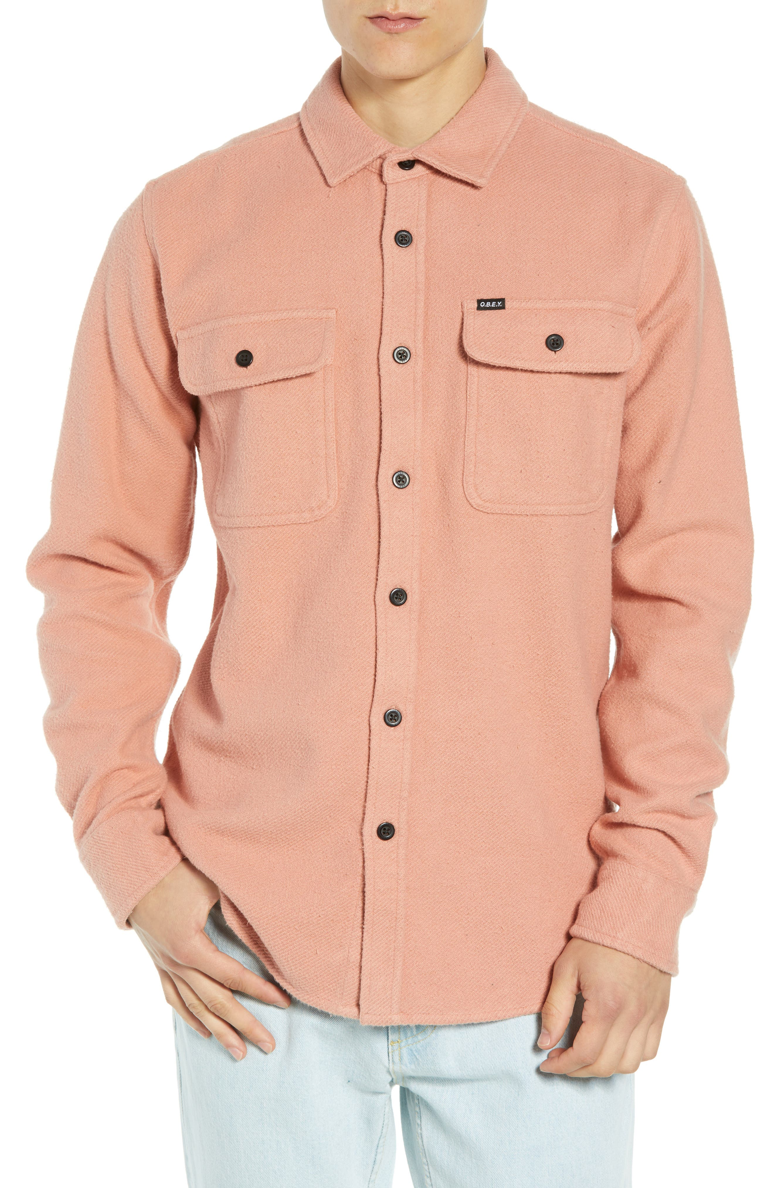 Outpost Flannel Shirt Jacket,                         Main,                         color, ROSE