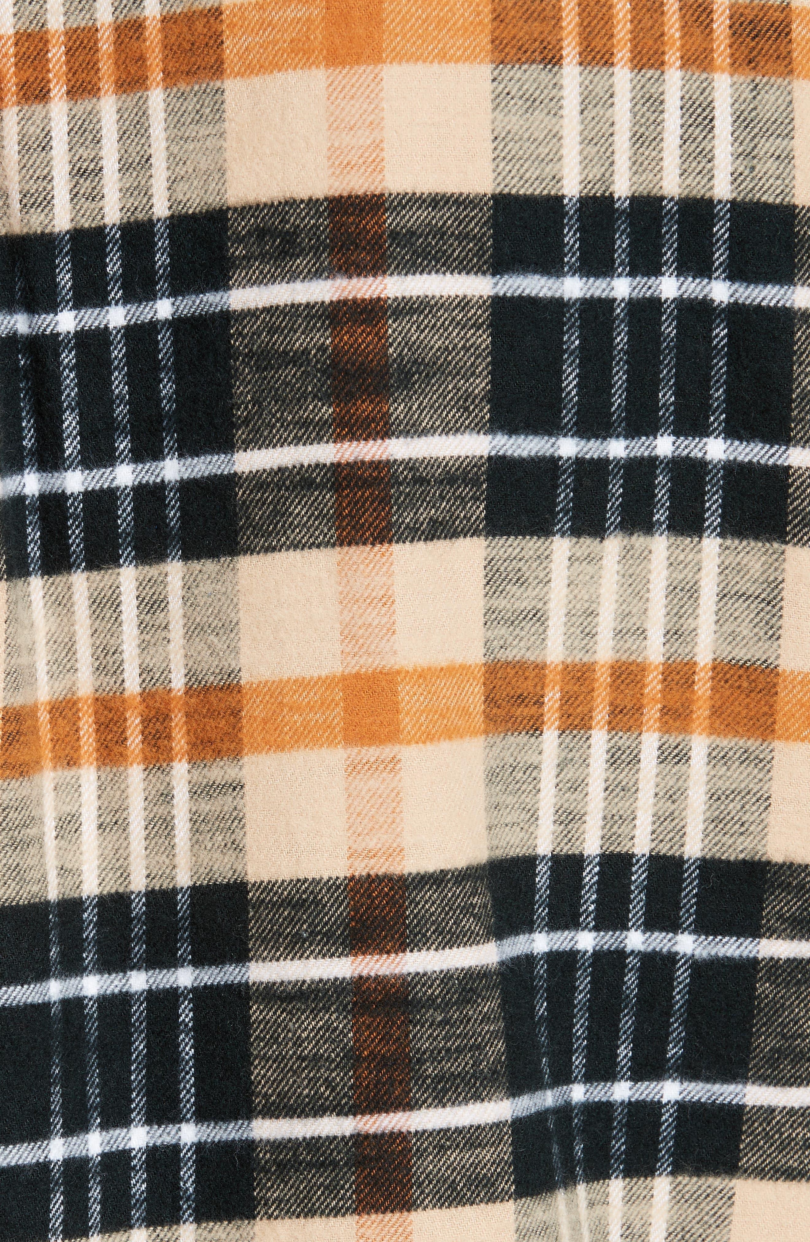 Bradford Plaid Flannel Sport Shirt,                             Alternate thumbnail 5, color,                             270