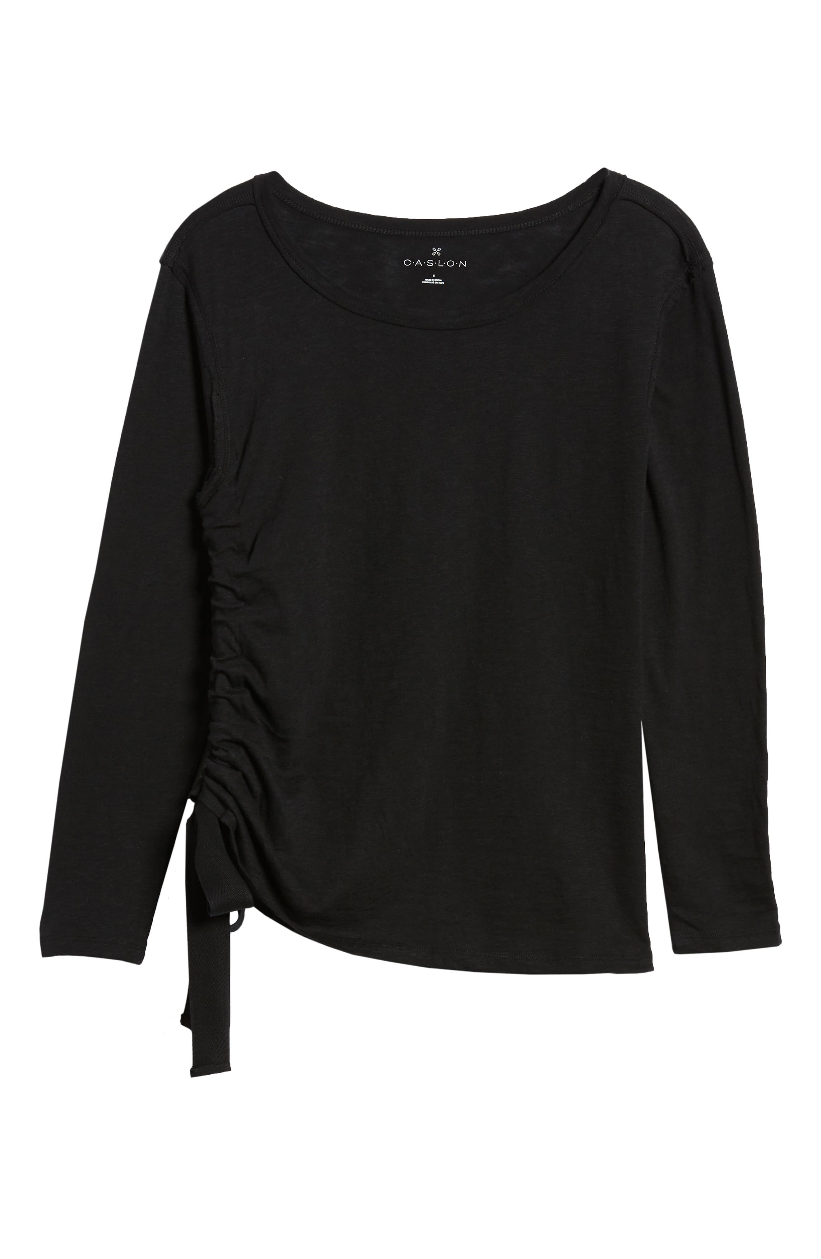 Side Shirred Top,                             Alternate thumbnail 6, color,                             001