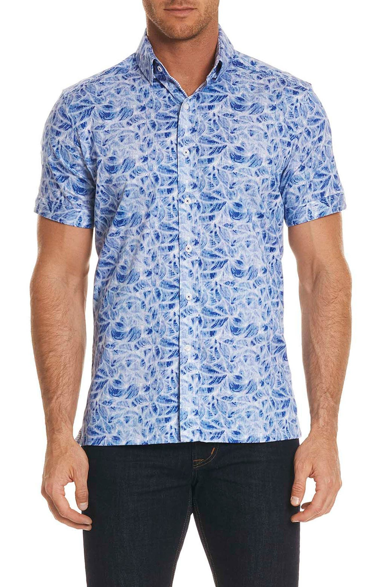 Booker Tailored Fit Print Sport Shirt,                             Main thumbnail 2, color,
