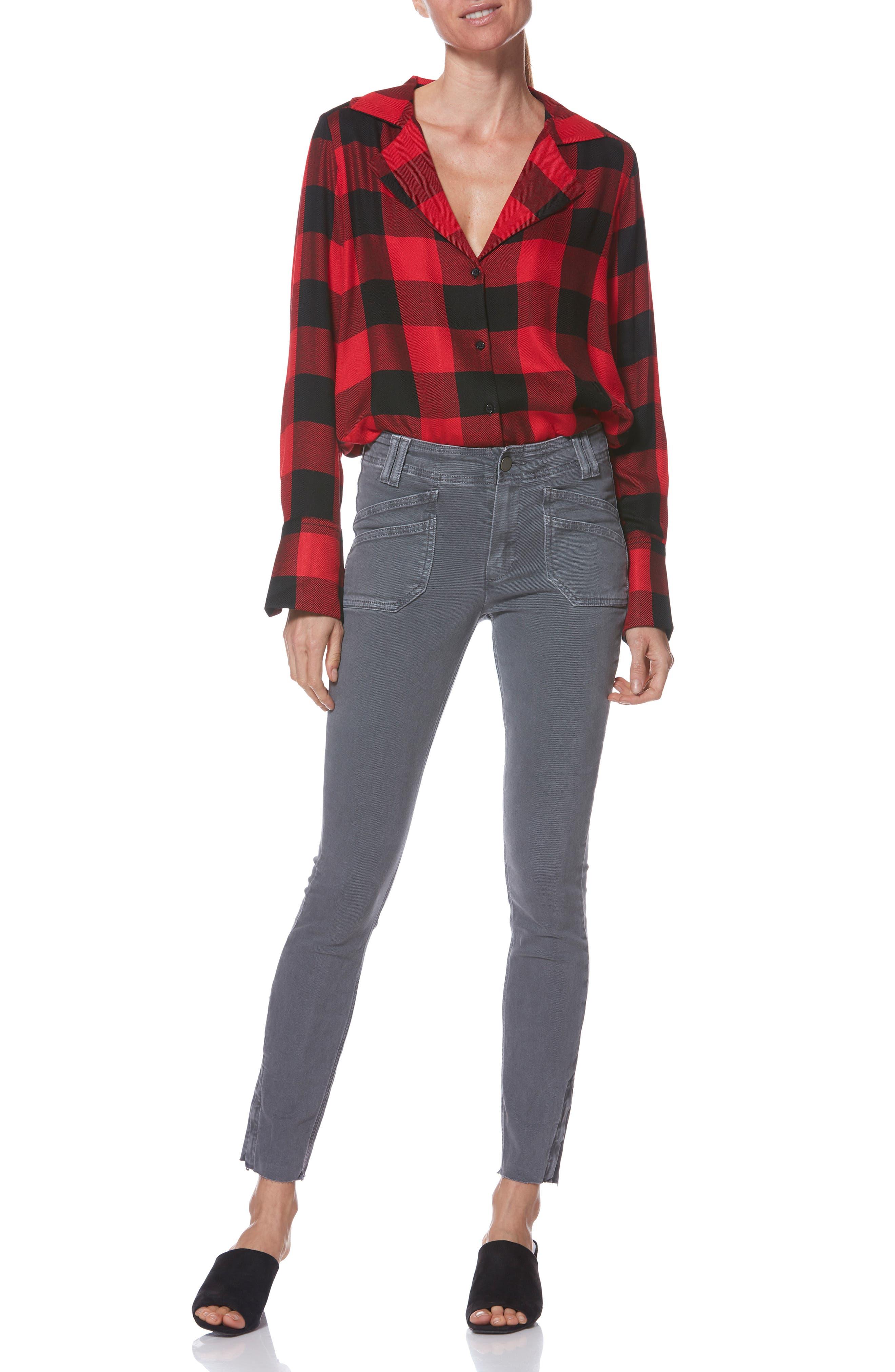Hoxton Utilitarian High Waist Ankle Skinny Jeans,                             Alternate thumbnail 6, color,                             VINTAGE TORNADO