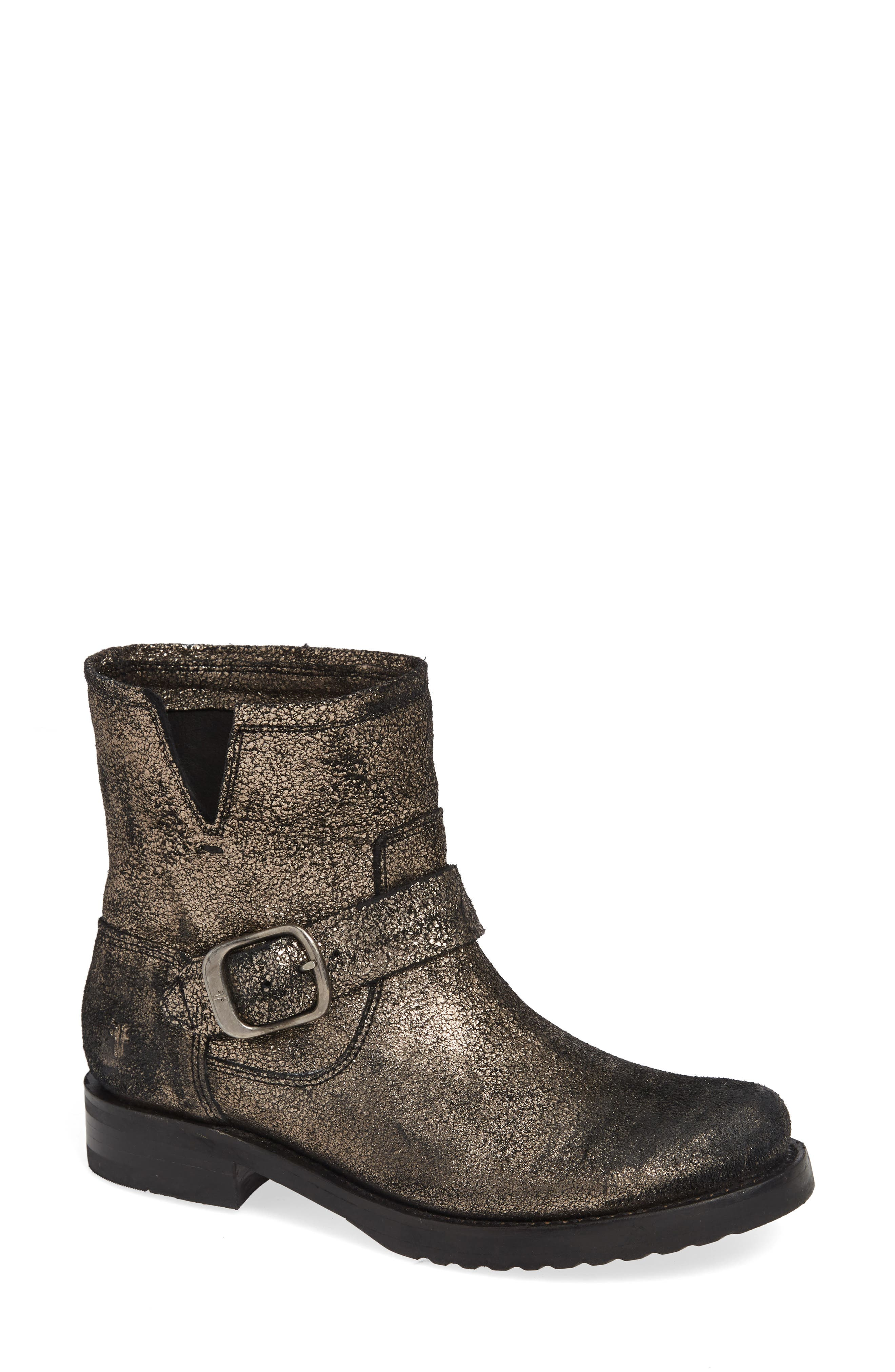 Veronica Bootie,                             Main thumbnail 1, color,                             GOLD LEATHER