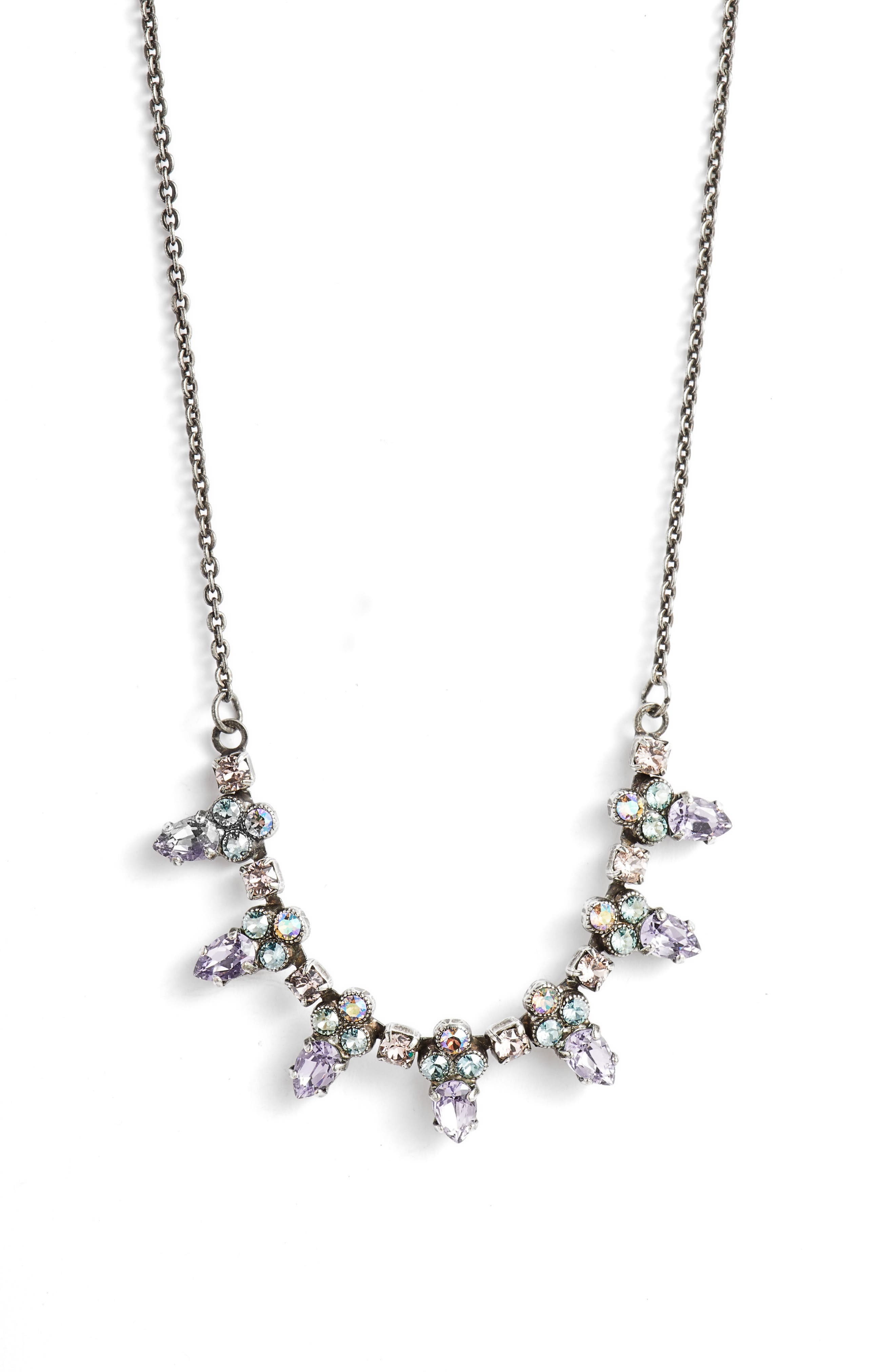 Twinkling Thistle Crystal Necklace,                             Main thumbnail 2, color,