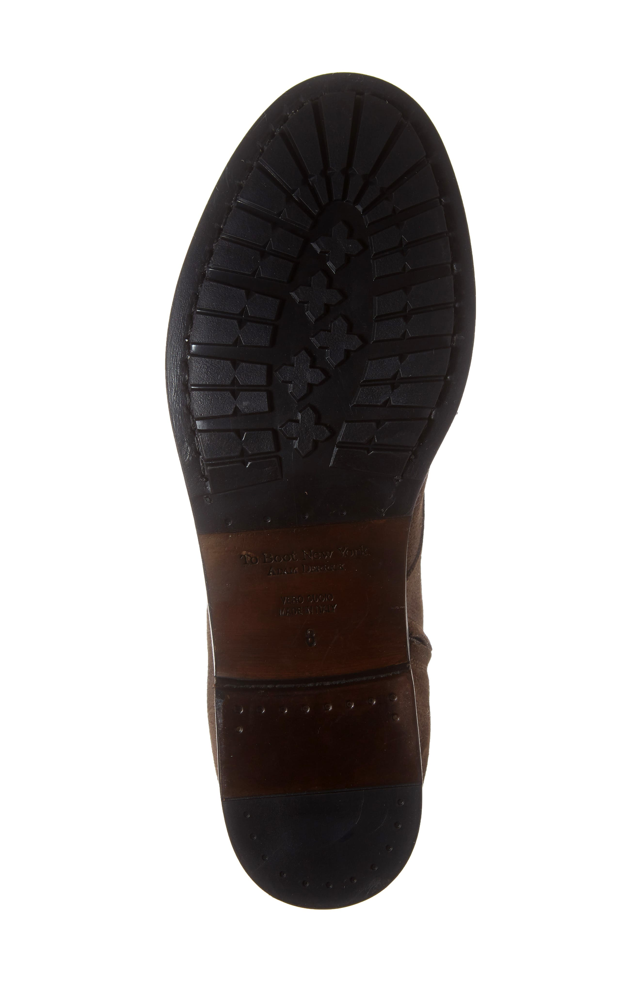 Athens Plain Toe Boot,                             Alternate thumbnail 6, color,                             TMORO SUEDE/ LEATHER