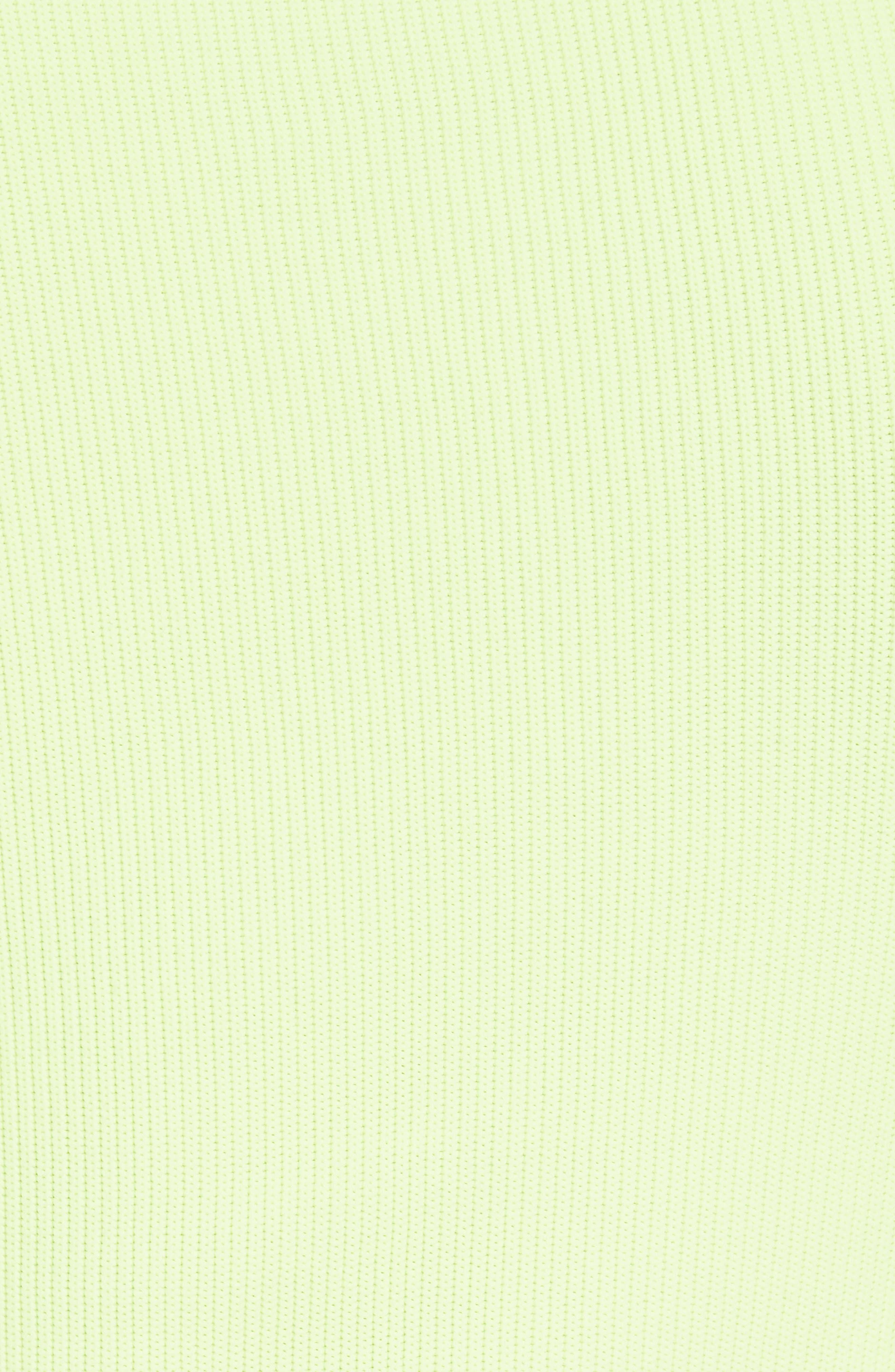 Quarter Zip Ribbed Tee,                             Alternate thumbnail 5, color,                             PLASTIC GREEN