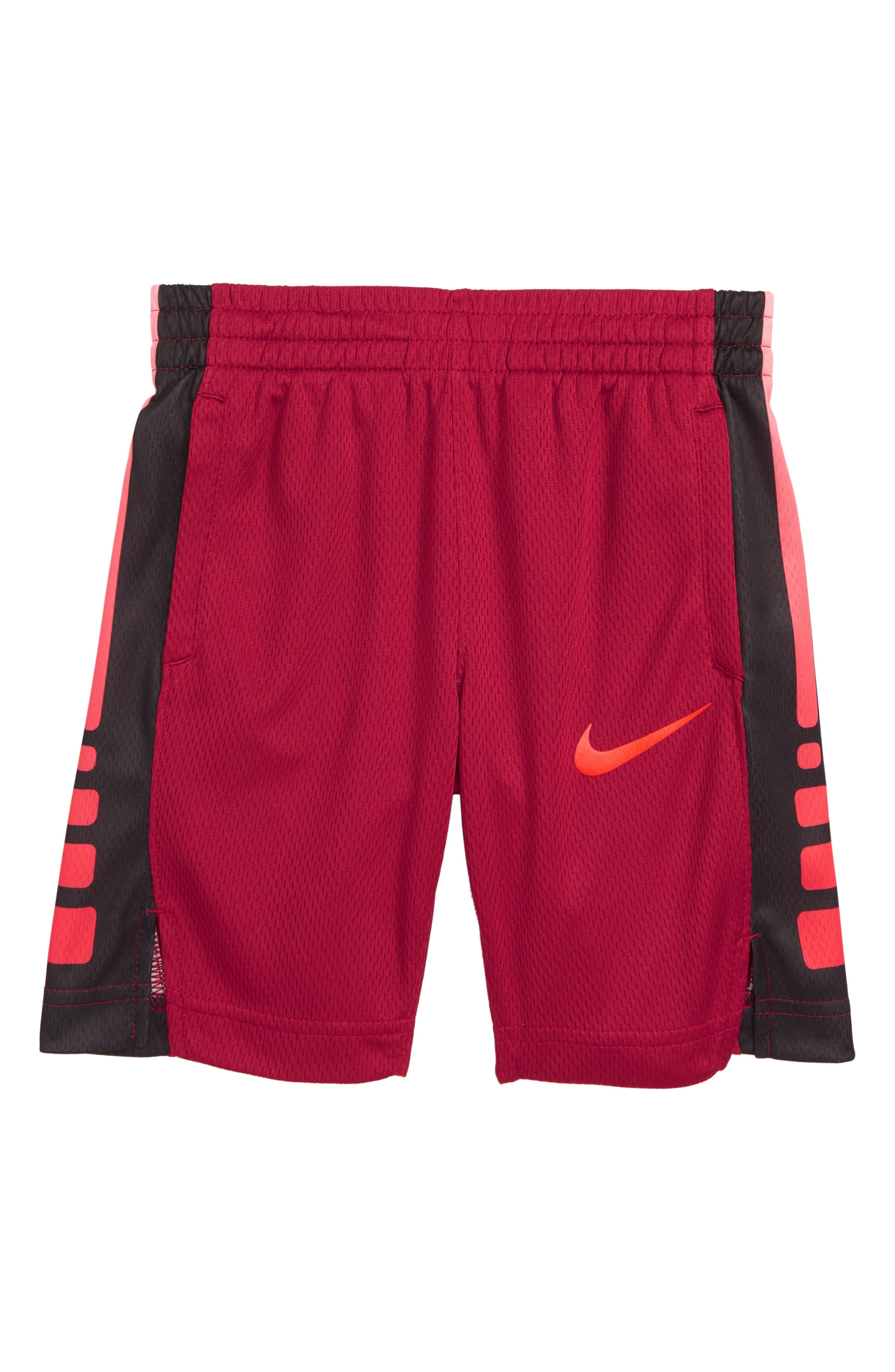 Elite Stripe Shorts,                             Main thumbnail 1, color,                             RED CRUSH