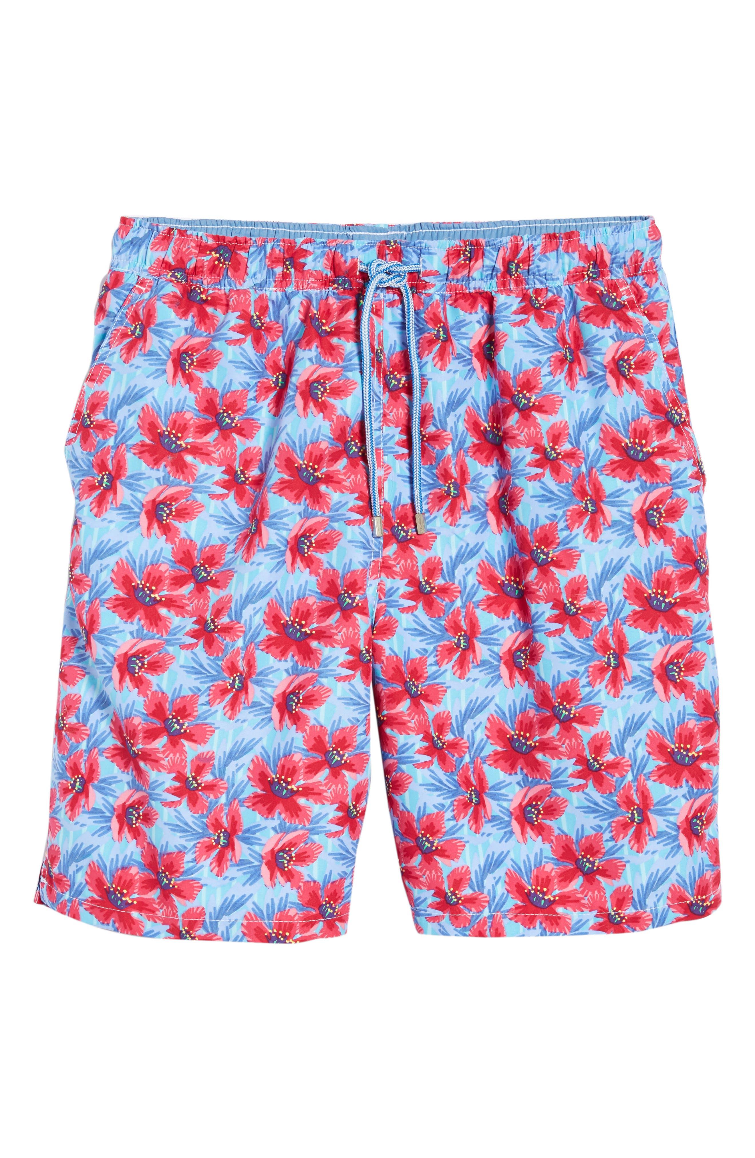 Spanish Flowers Swim Trunks,                             Alternate thumbnail 6, color,                             464