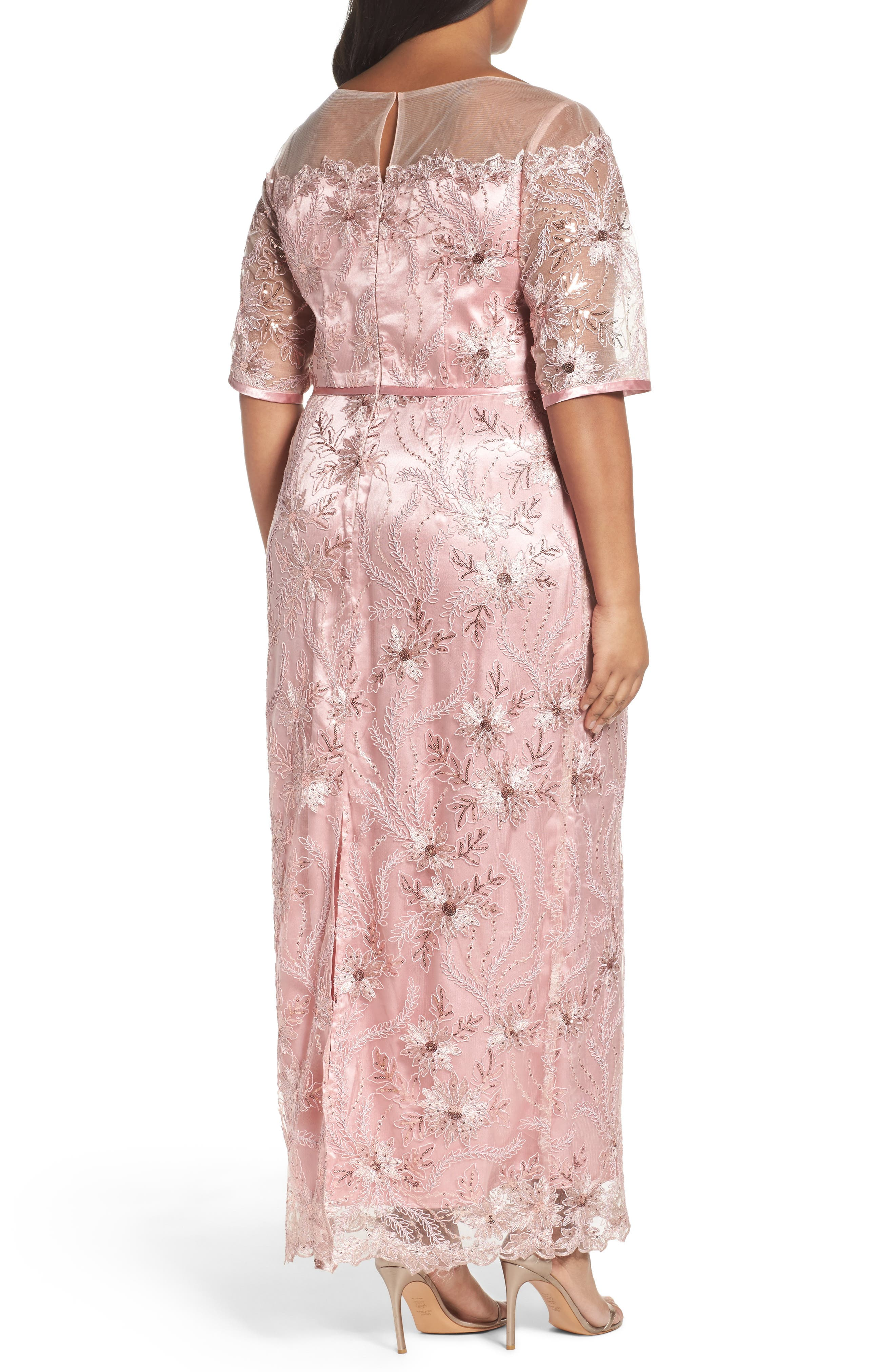 Embellished Gown,                             Alternate thumbnail 2, color,                             PALE PINK