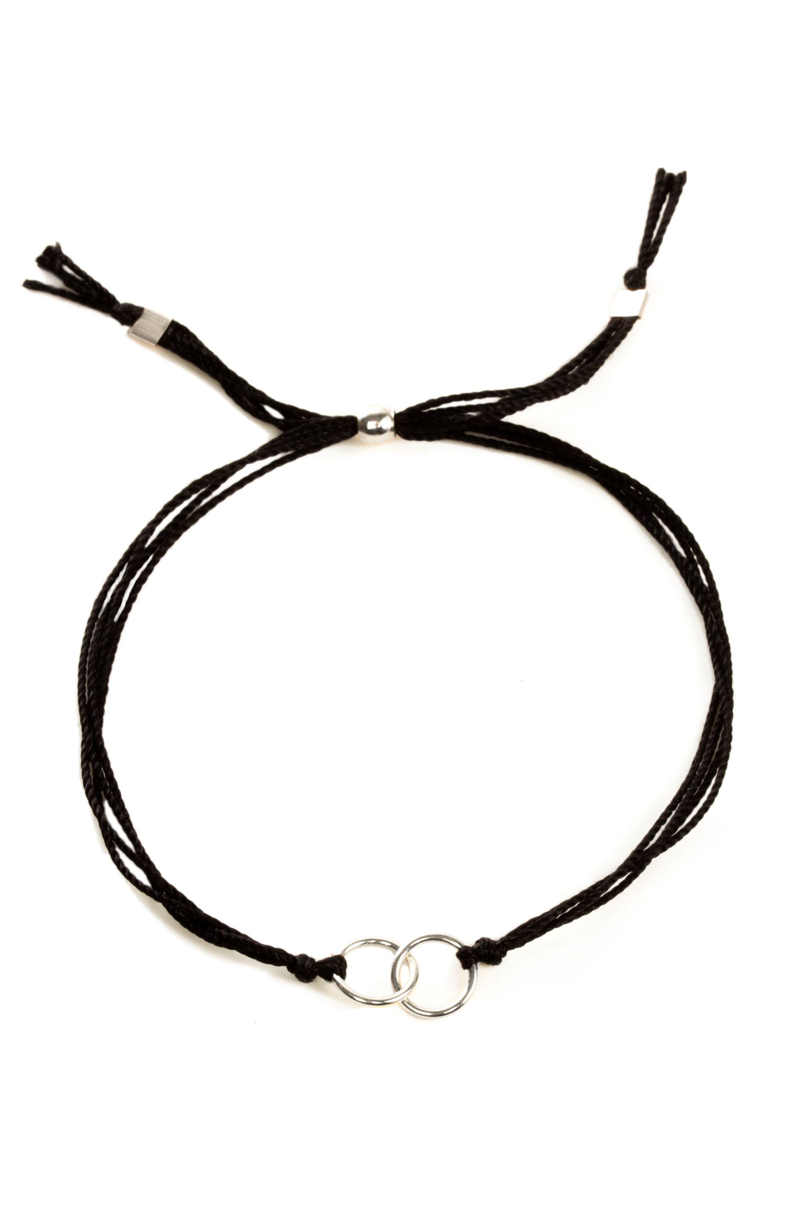 DOGEARED,                             Double Linked Friendship Bracelet,                             Alternate thumbnail 2, color,                             040