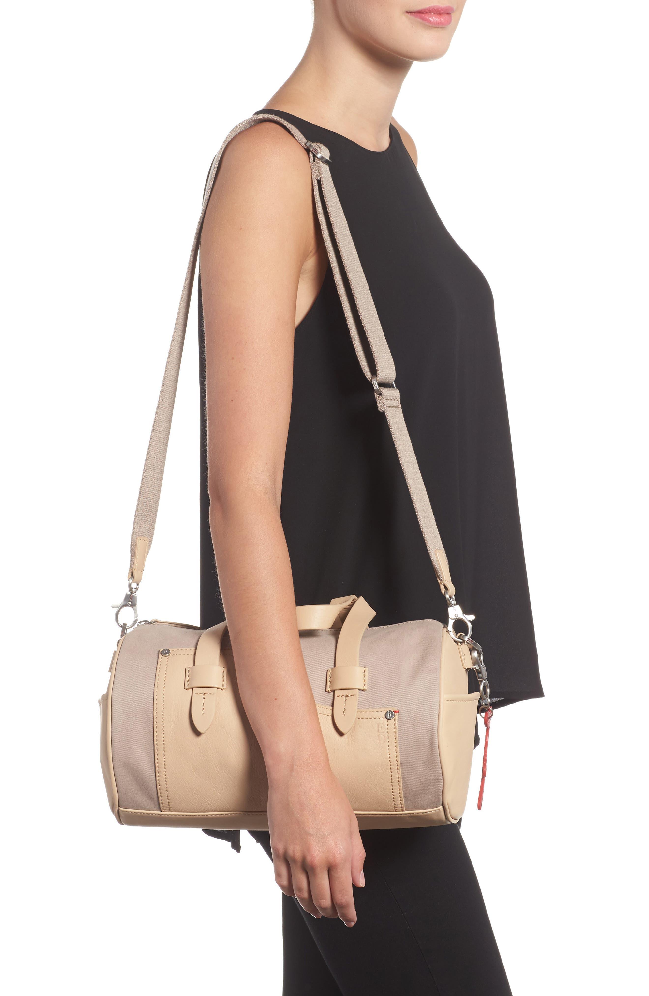 Mini Carml Leather & Canvas Barrel Bag,                             Alternate thumbnail 2, color,                             050