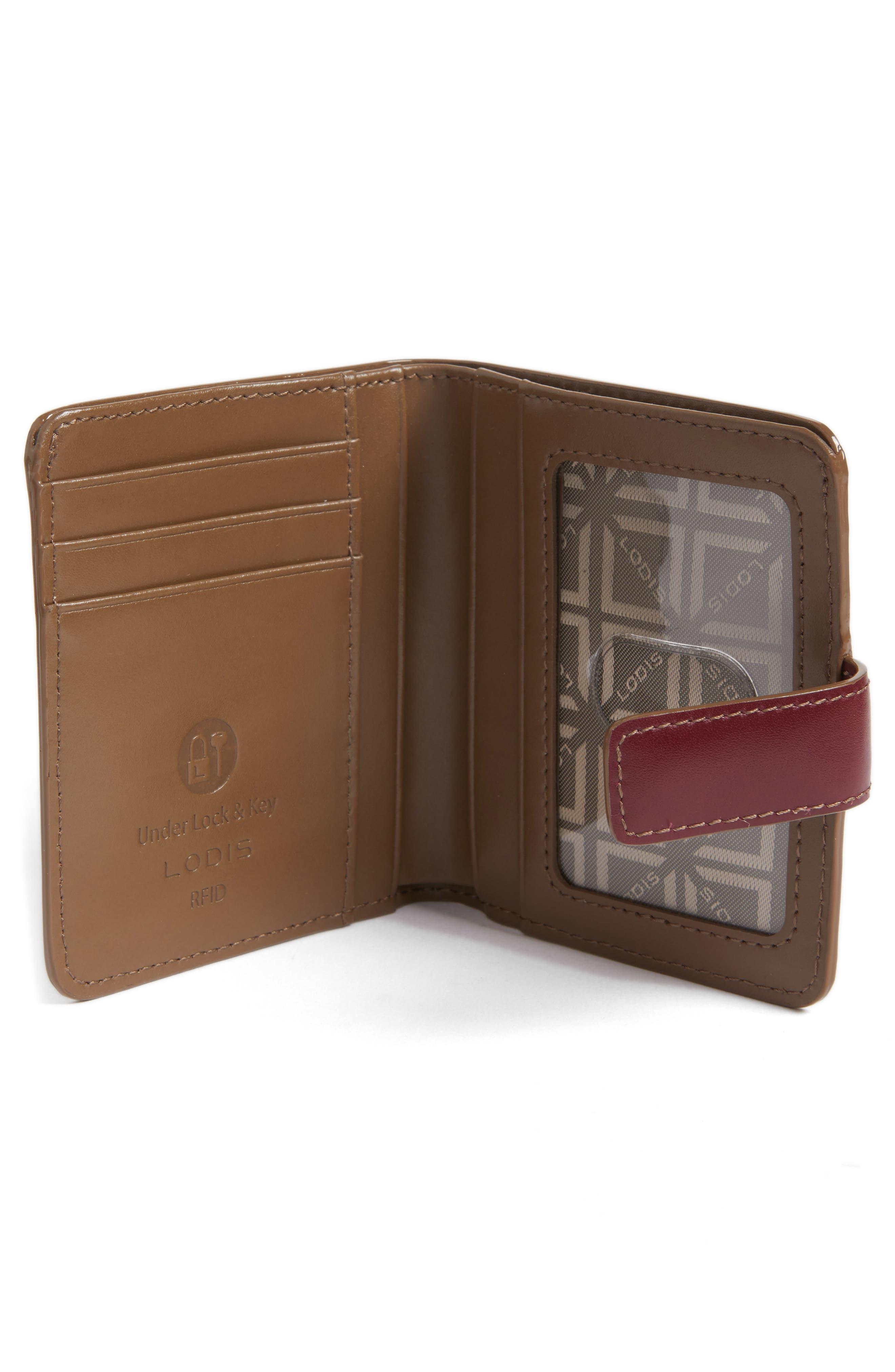 Lodis Petite Audrey RFID Leather Wallet,                             Alternate thumbnail 6, color,