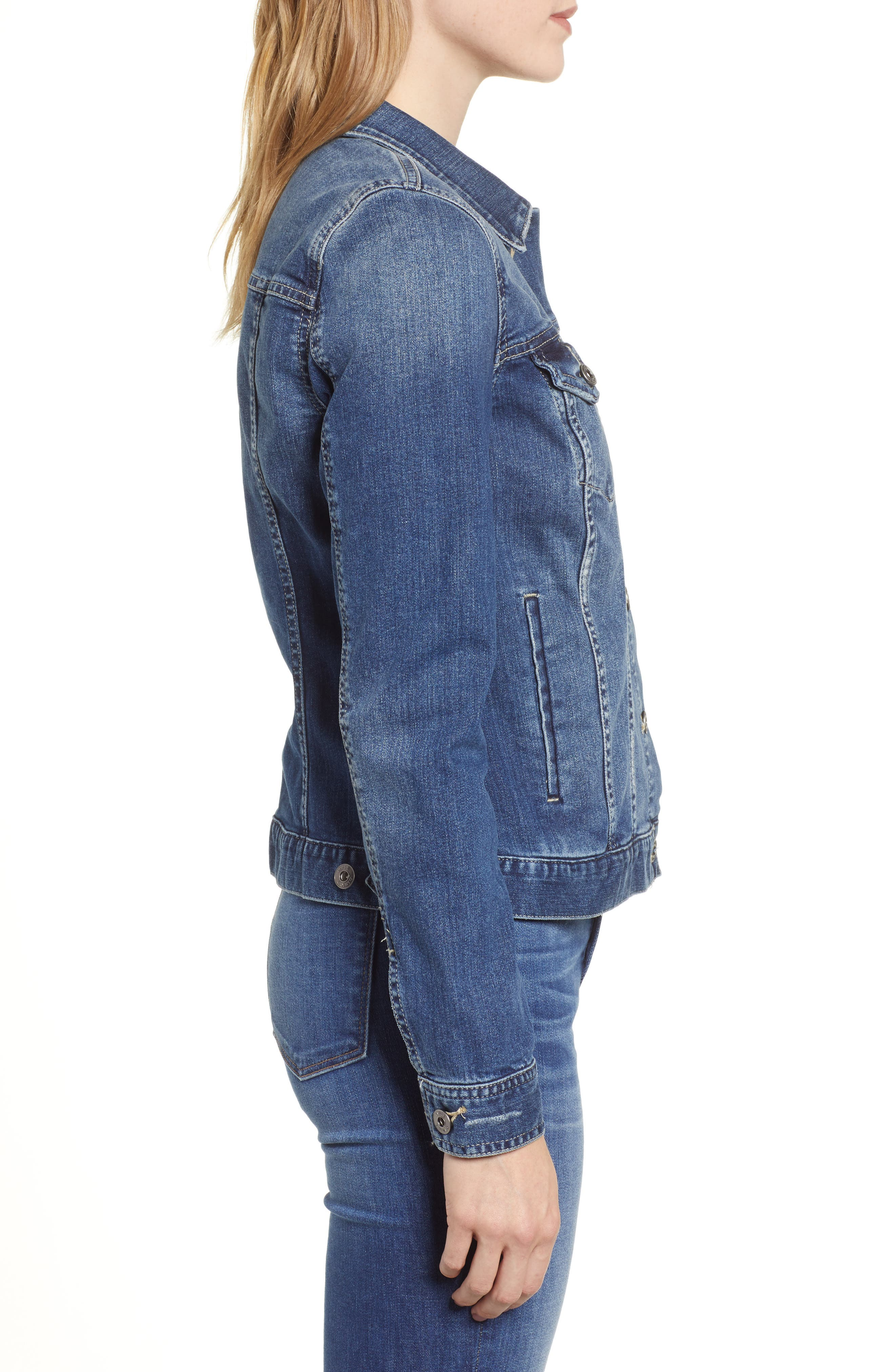 VINCE CAMUTO,                             Two by Vince Camuto Jean Jacket,                             Alternate thumbnail 4, color,                             AUTHENTIC