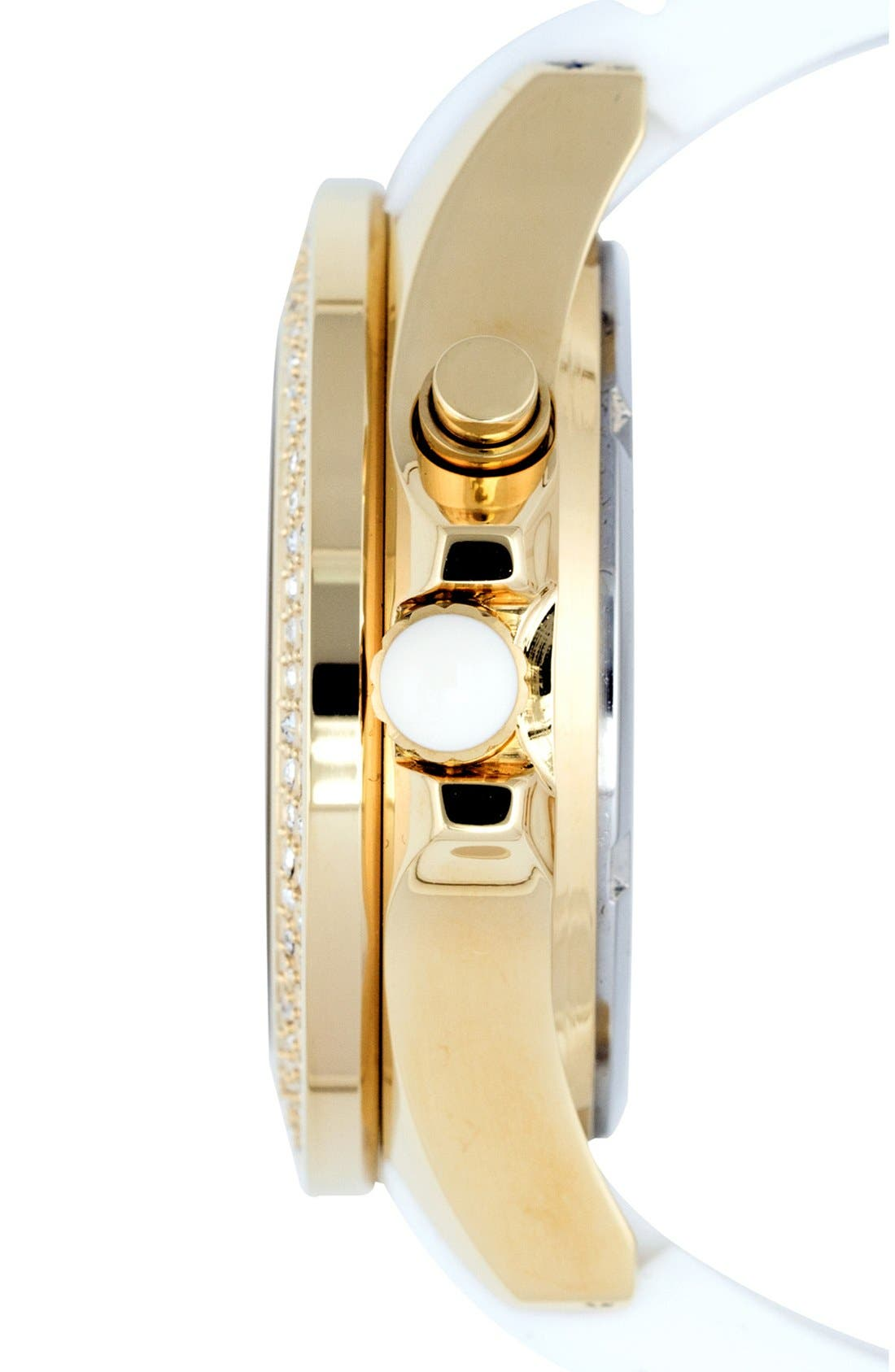 'Radiant' Crystal Bezel Silicone Strap Watch, 40mm,                             Alternate thumbnail 2, color,                             101