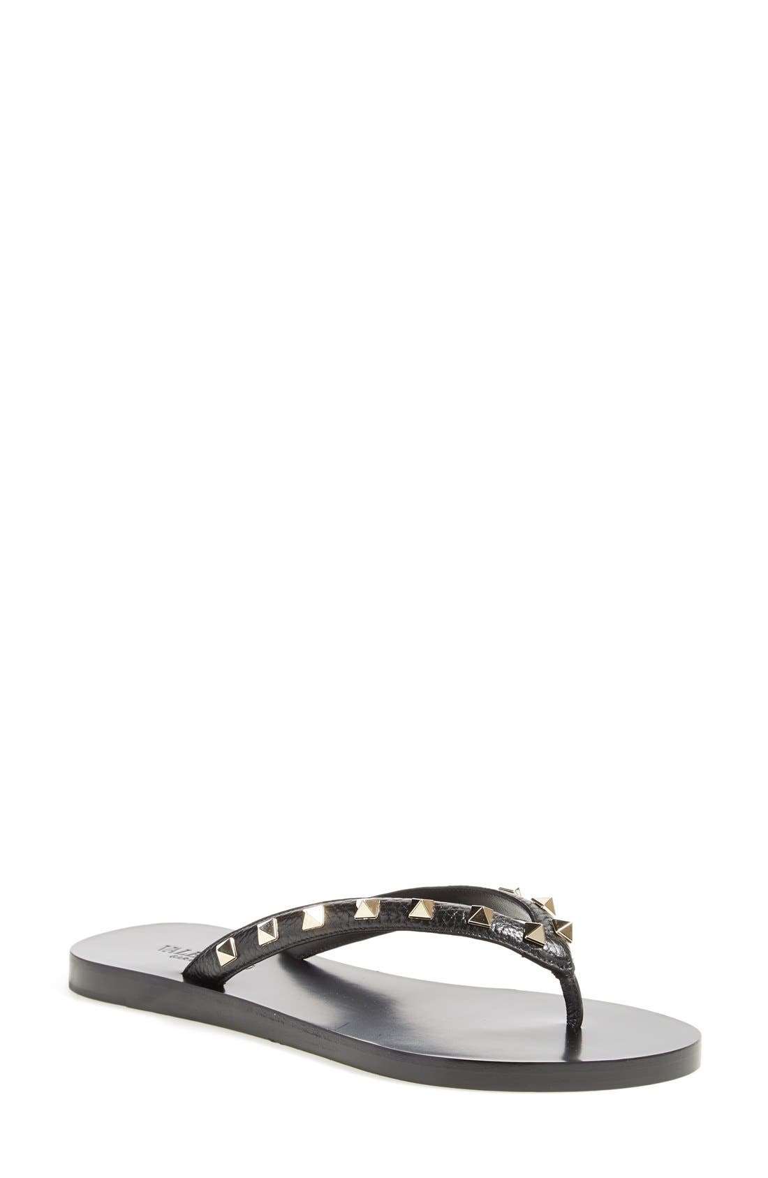 'Rockstud' Flip Flop, Main, color, 002