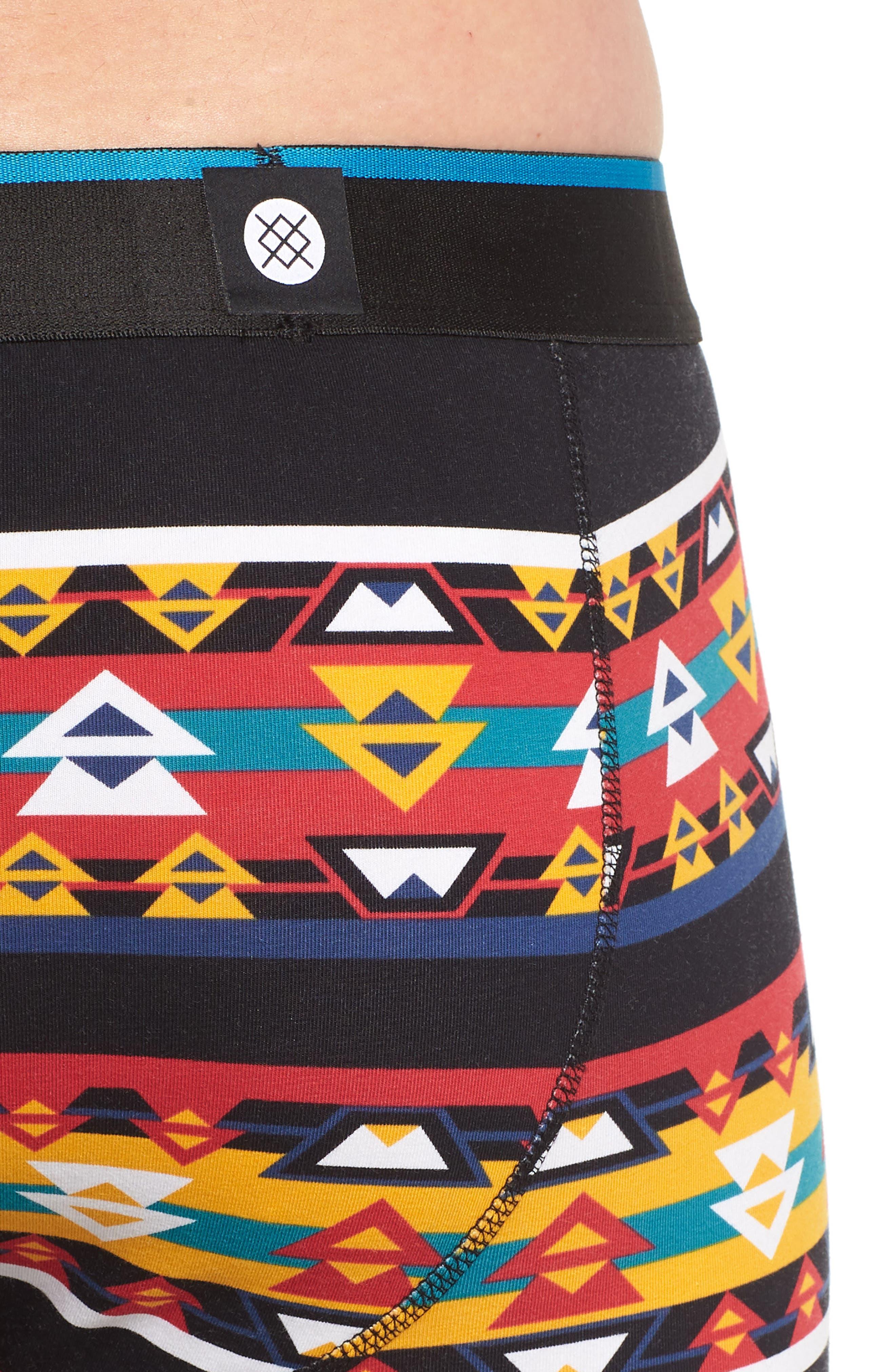Southwestern Boxer Briefs,                             Alternate thumbnail 4, color,                             BLACK