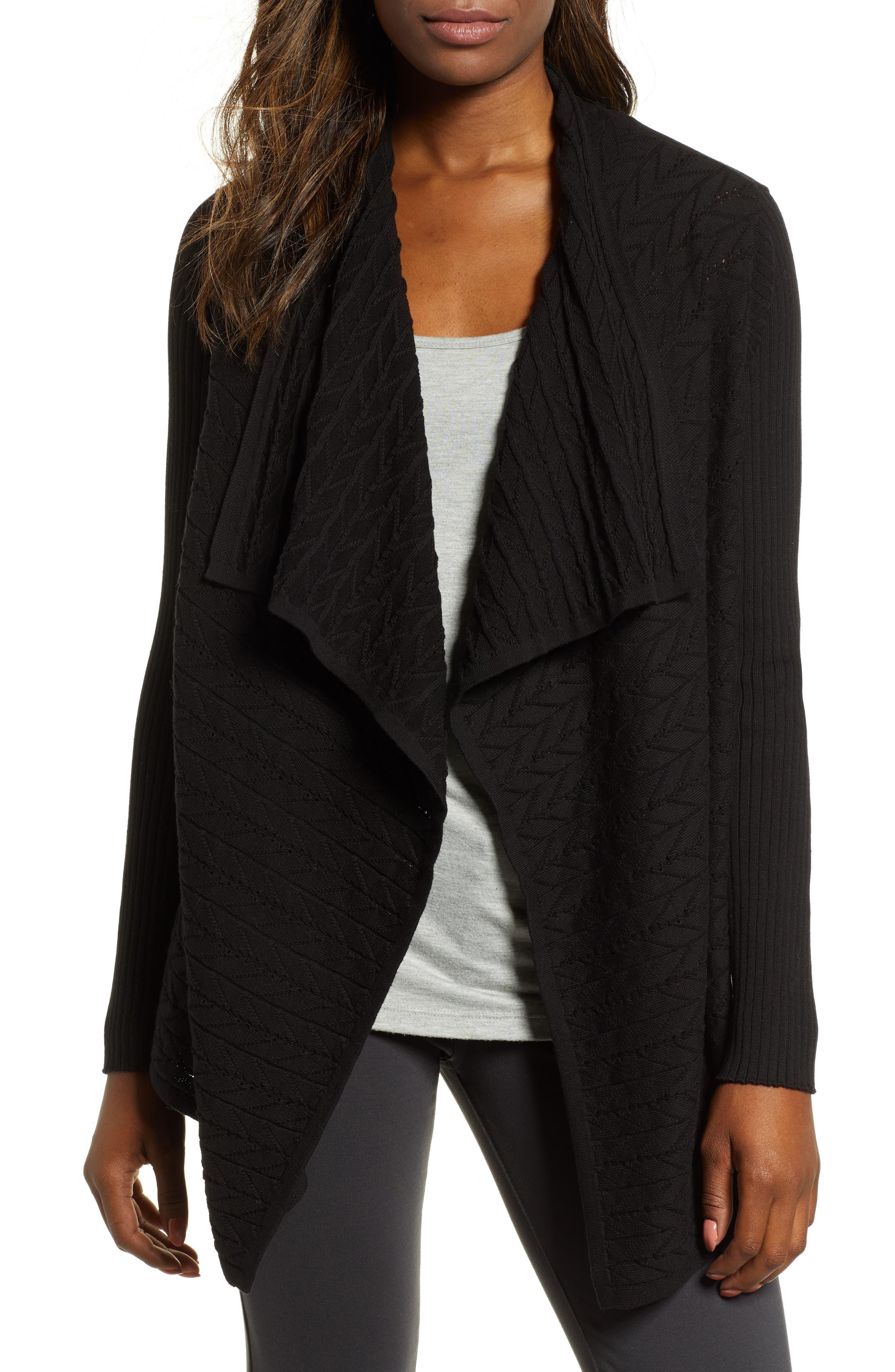 Mixed Knit Cotton Cardigan,                         Main,                         color, 012