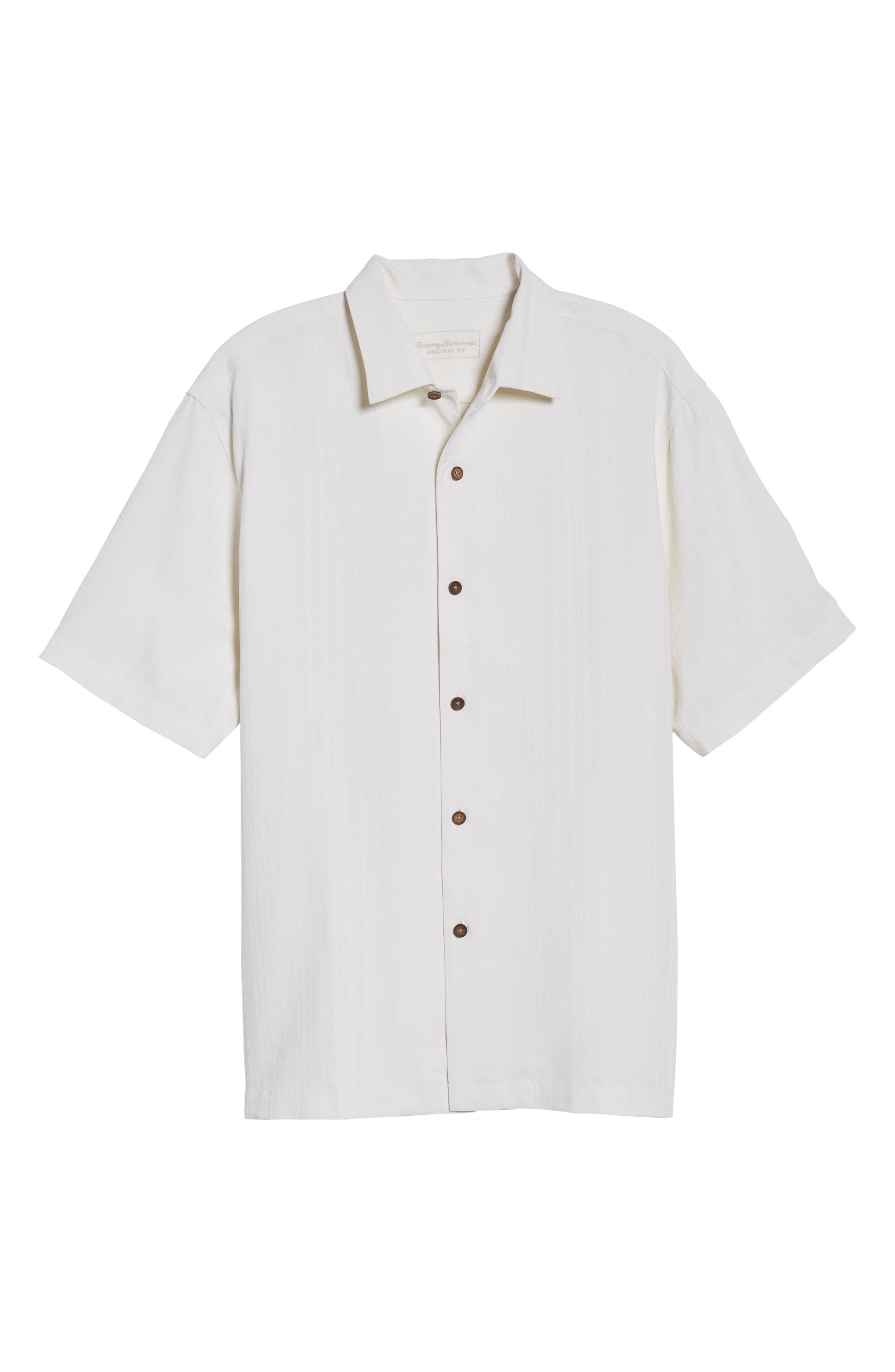 Paradise Fairway Silk Camp Shirt,                             Alternate thumbnail 6, color,