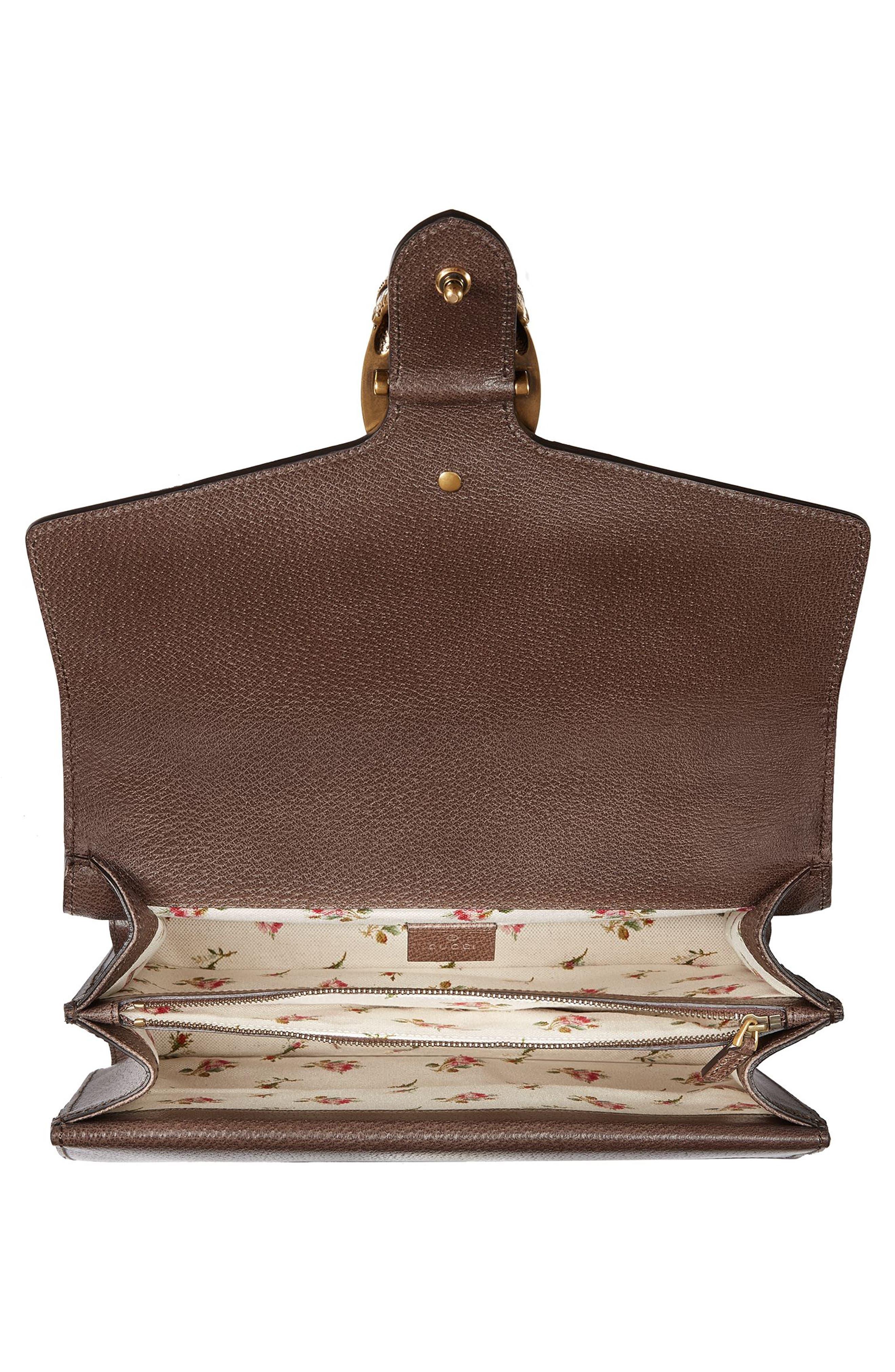 Medium Dionysus Embroidered Leather Shoulder Bag,                             Alternate thumbnail 3, color,                             031