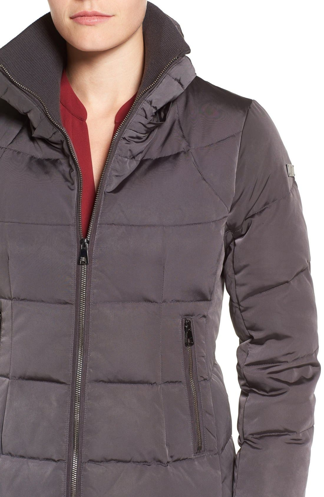 Down & Feather Fill Coat with Faux Fur Trim Hood,                             Alternate thumbnail 13, color,