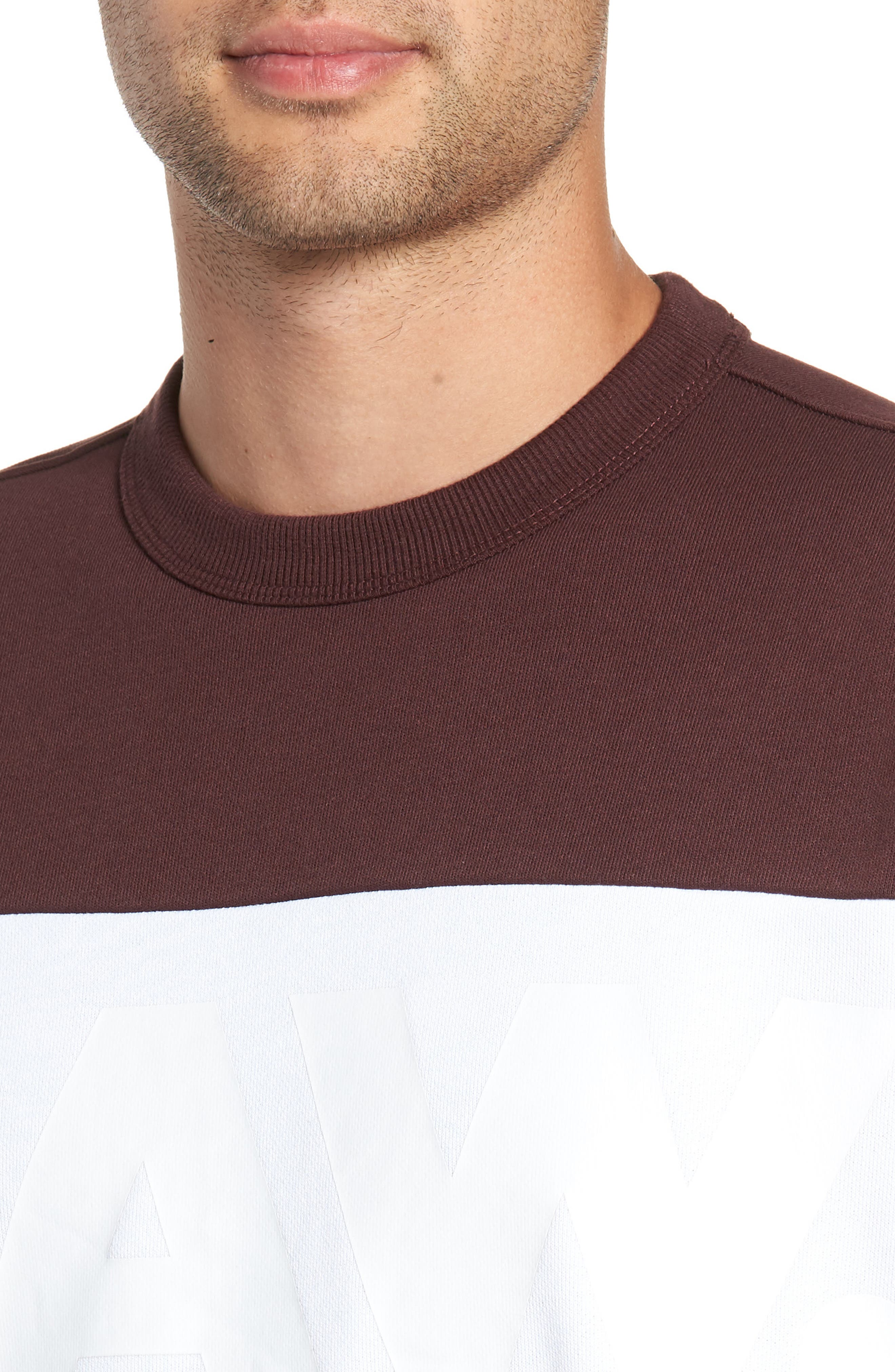 Libe Core Colorblock Sweatshirt,                             Alternate thumbnail 4, color,                             001