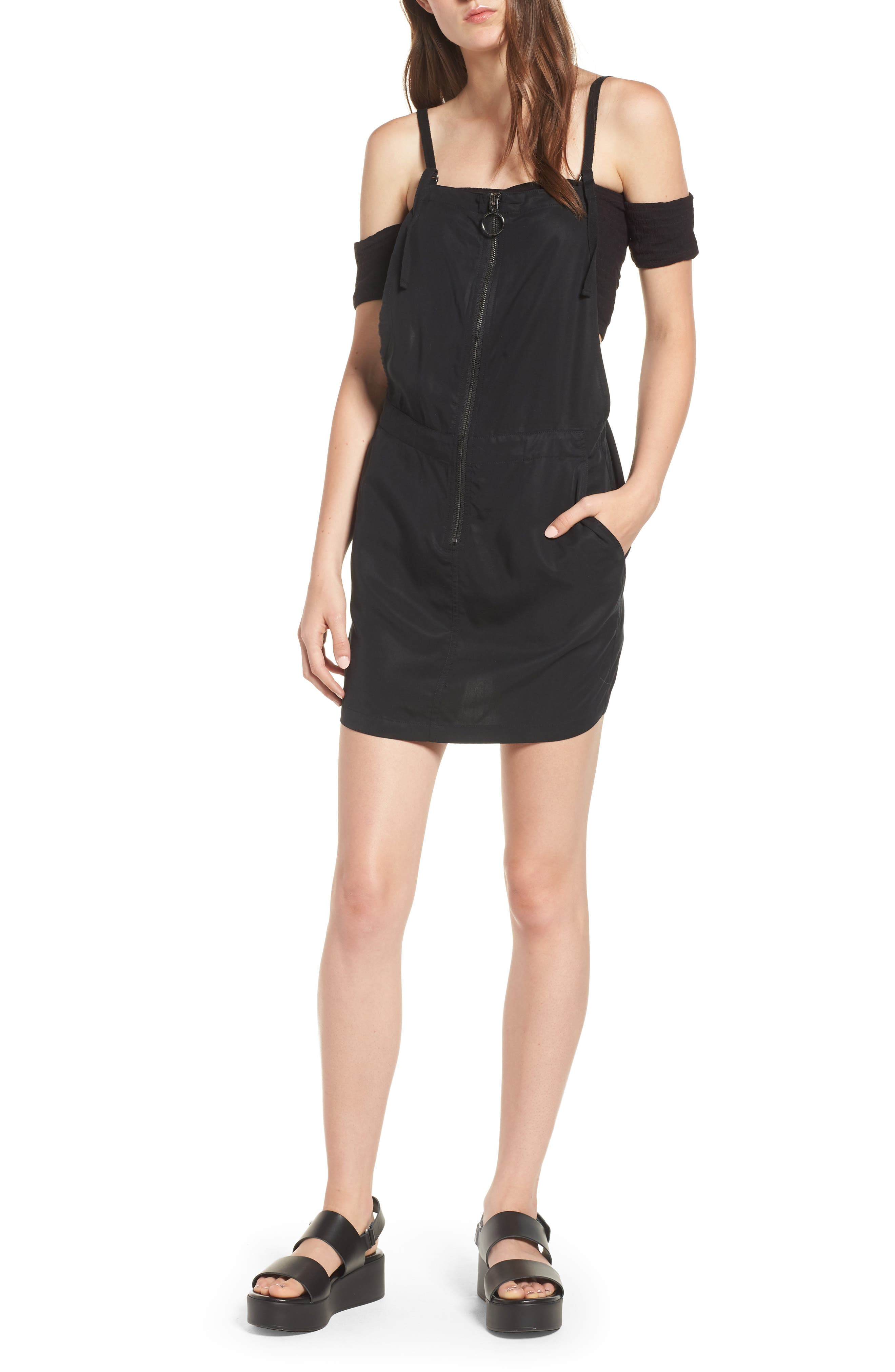 In Tents Pinafore Dress,                         Main,                         color, 001