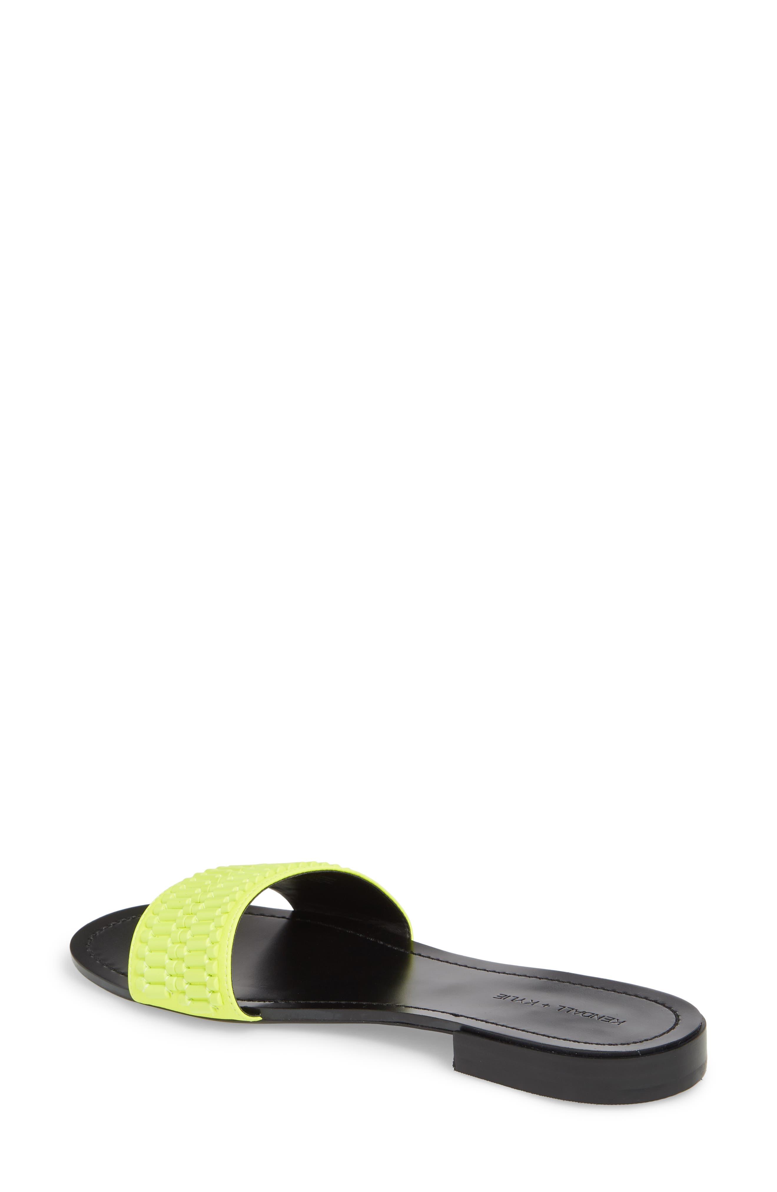 Kennedy Slide Sandal,                             Alternate thumbnail 2, color,                             FLUORESCENT YELLOW/ YELLOW