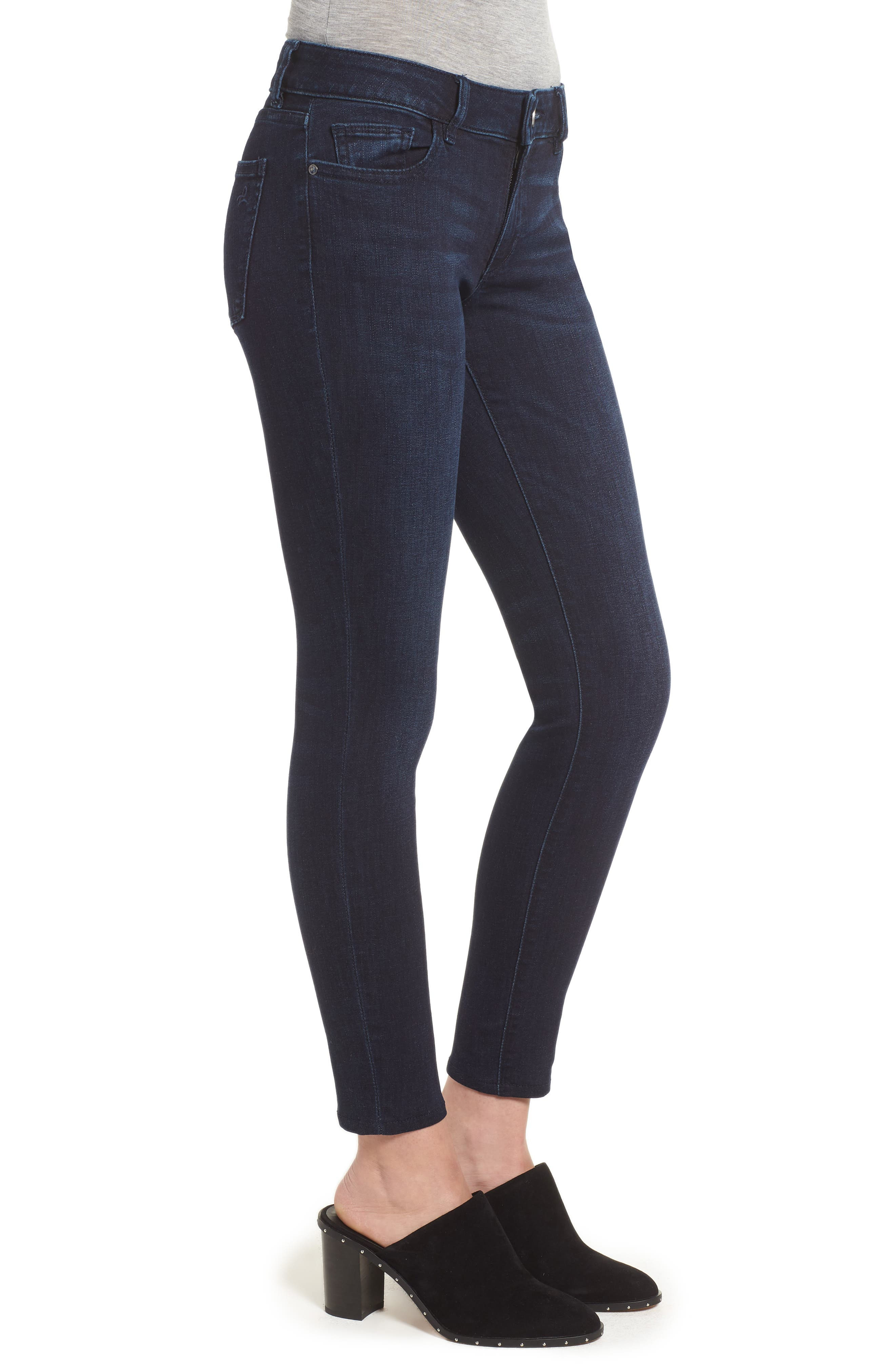 Emma Low Rise Ankle Skinny Jeans,                             Alternate thumbnail 3, color,                             NICHOLSON