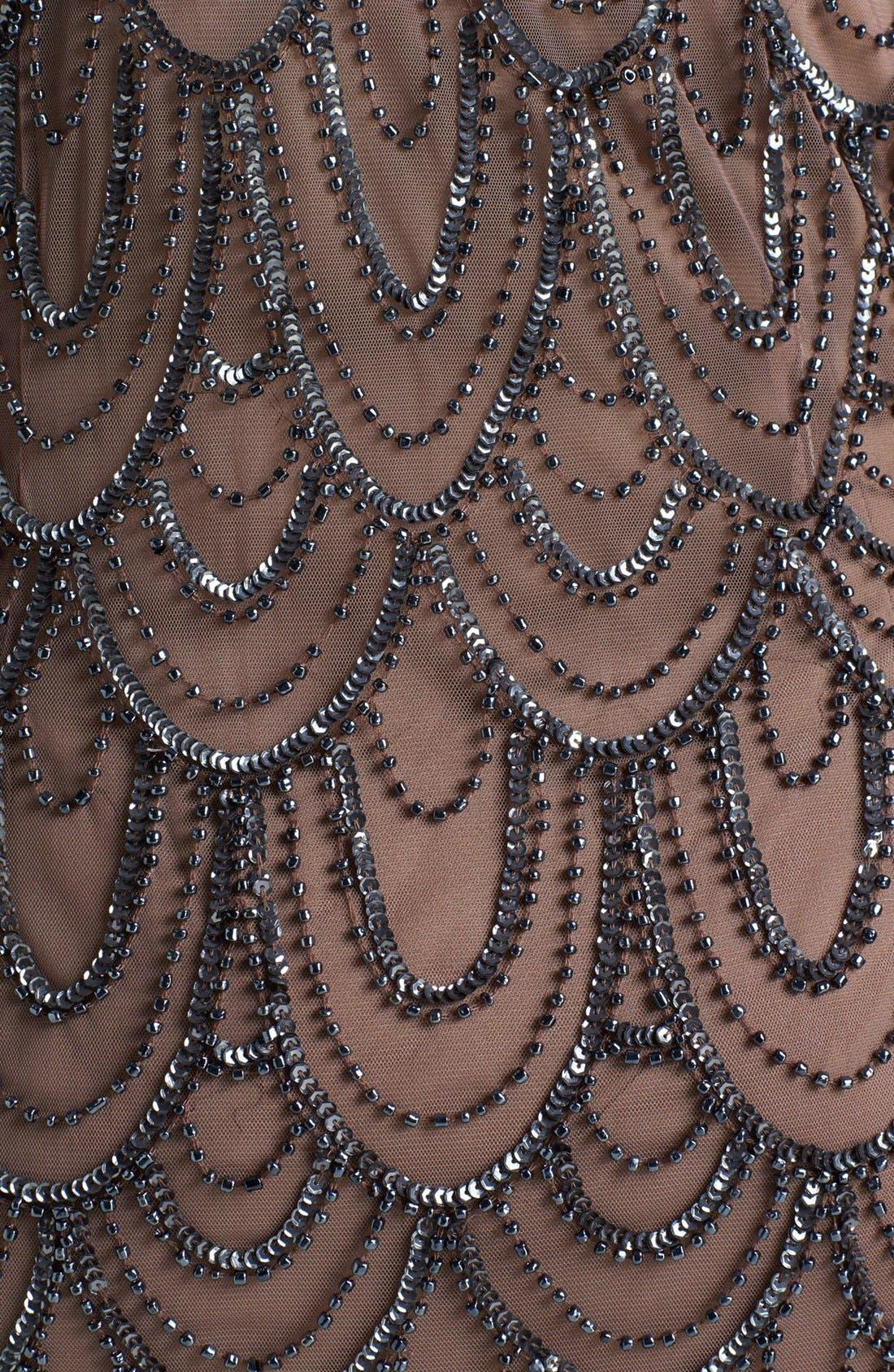 Beaded Sheath Dress,                             Alternate thumbnail 19, color,