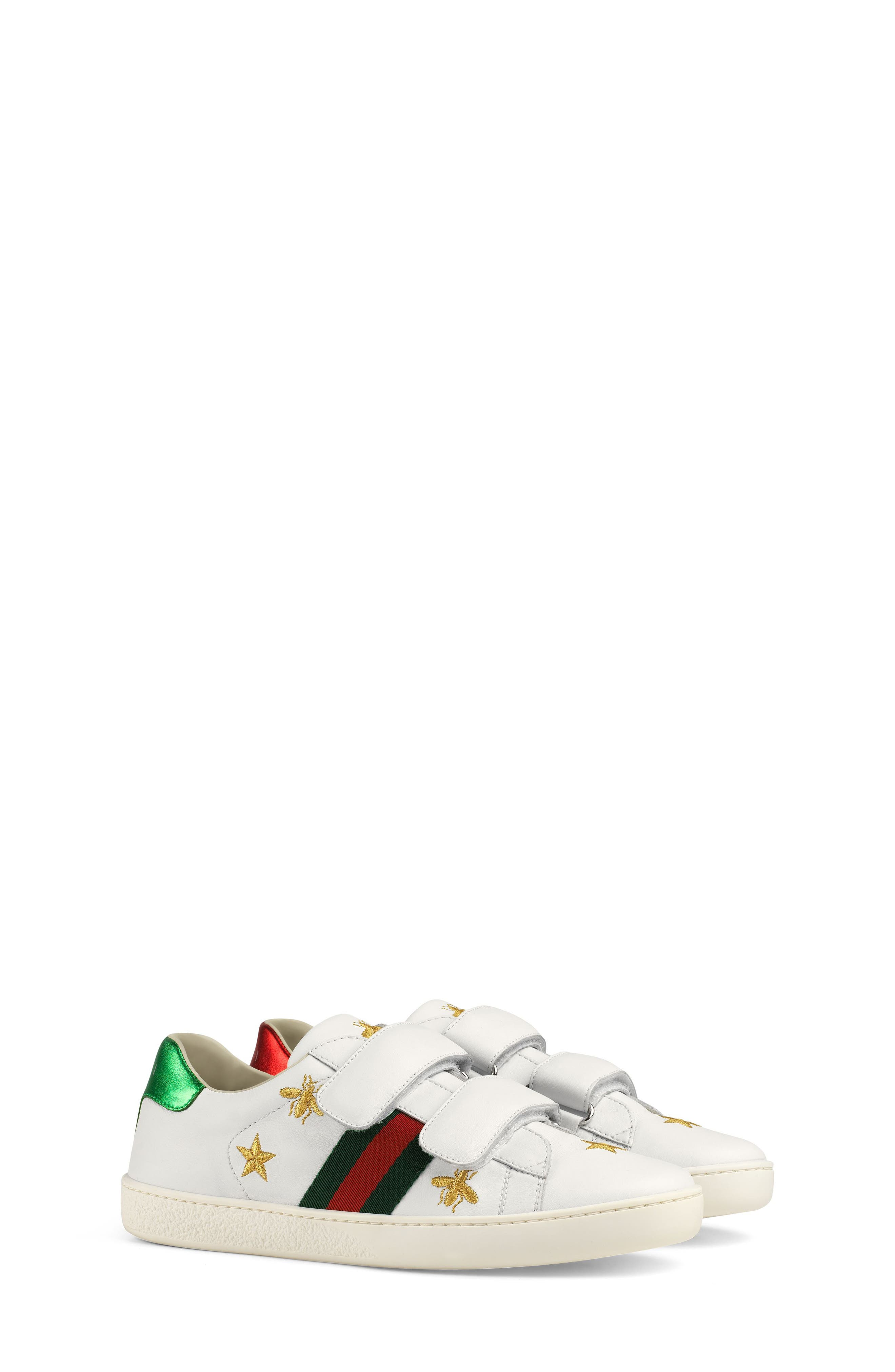 New Ace Embroidered Sneaker,                             Main thumbnail 1, color,                             WHITE STAR