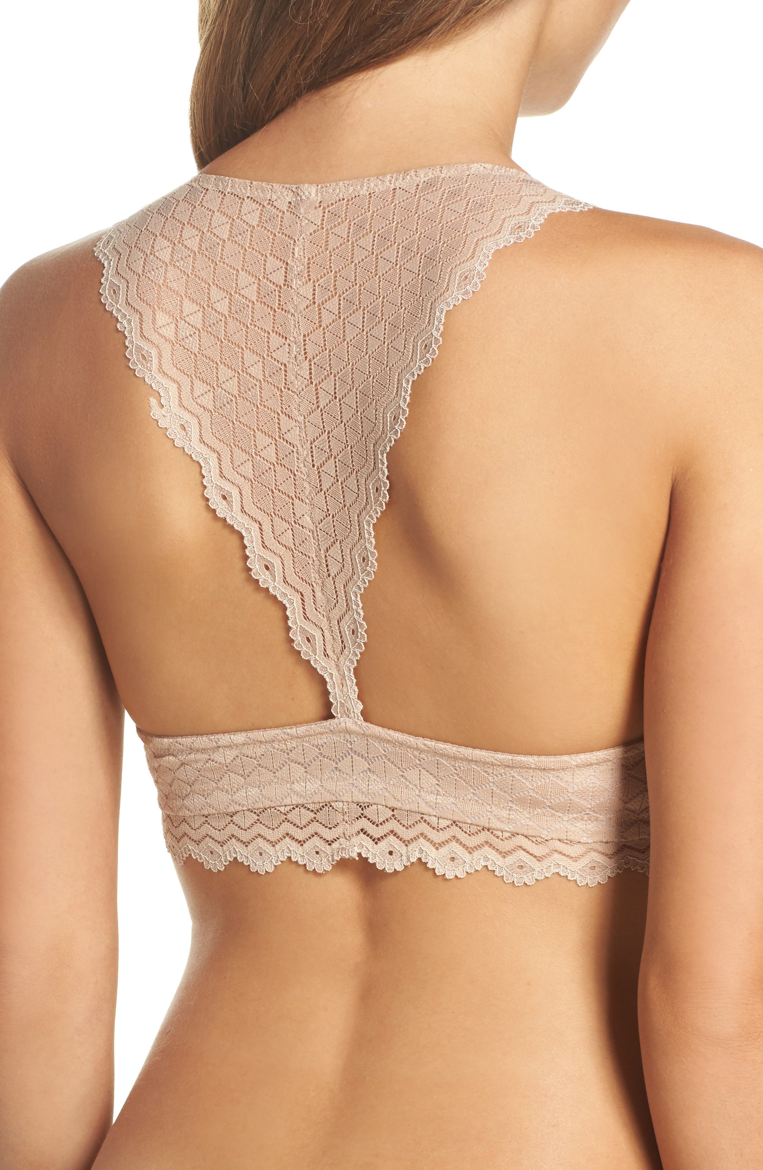 b.tempted by Wacoal Plunge Lace Bralette,                             Alternate thumbnail 6, color,