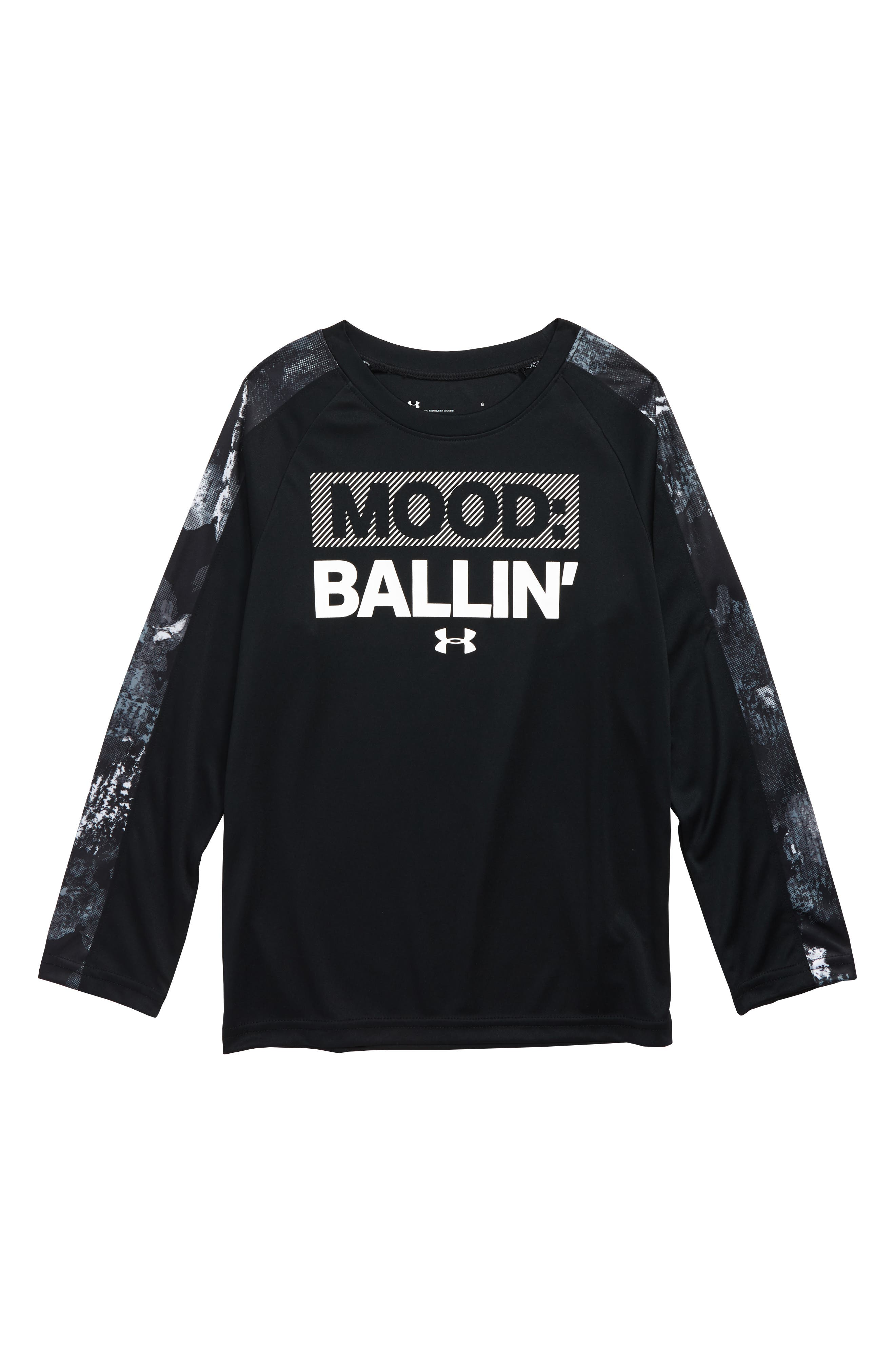 Mood Ballin' Graphic T-Shirt,                             Main thumbnail 1, color,                             BLACK