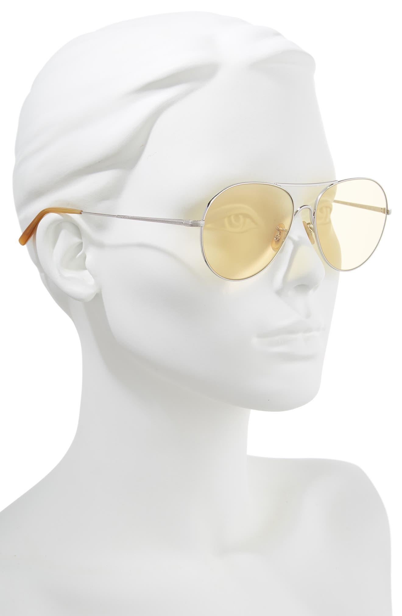 Rockmore 58mm Aviator Sunglasses,                             Alternate thumbnail 2, color,                             SILVER