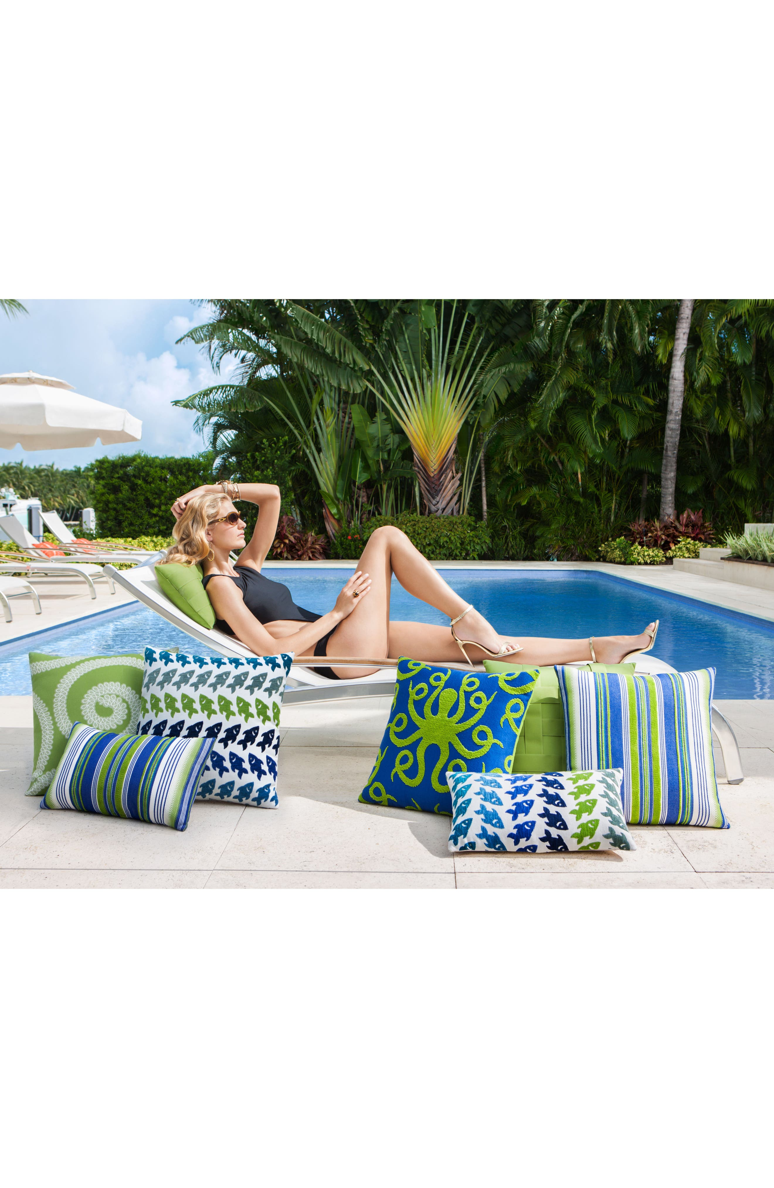 Oceana Deep Sea Lumbar Pillow,                             Alternate thumbnail 3, color,                             BLUE/ GREEN